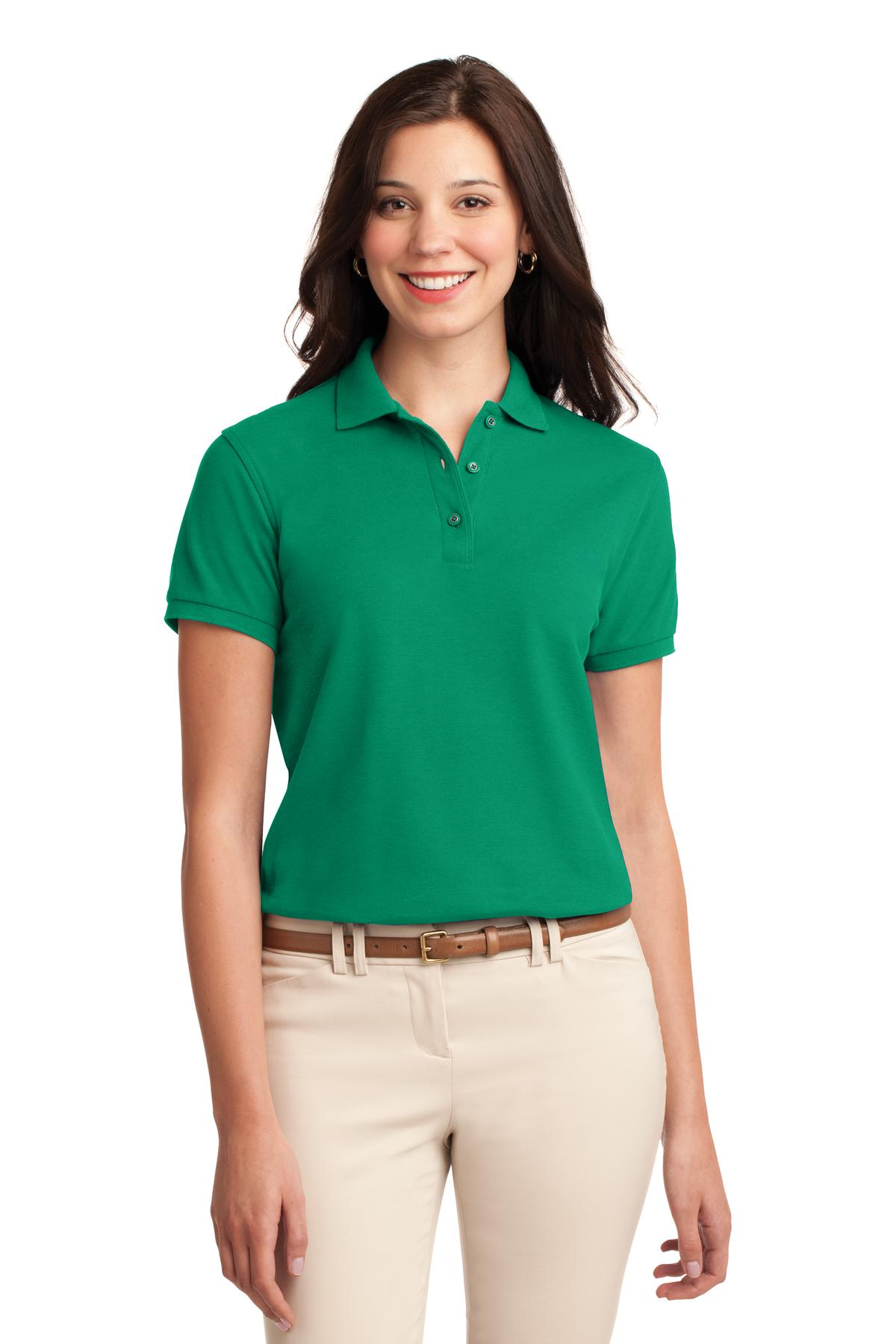 Port Authority ®  Ladies Silk Touch™ Polo.  L500 - Kelly Green
