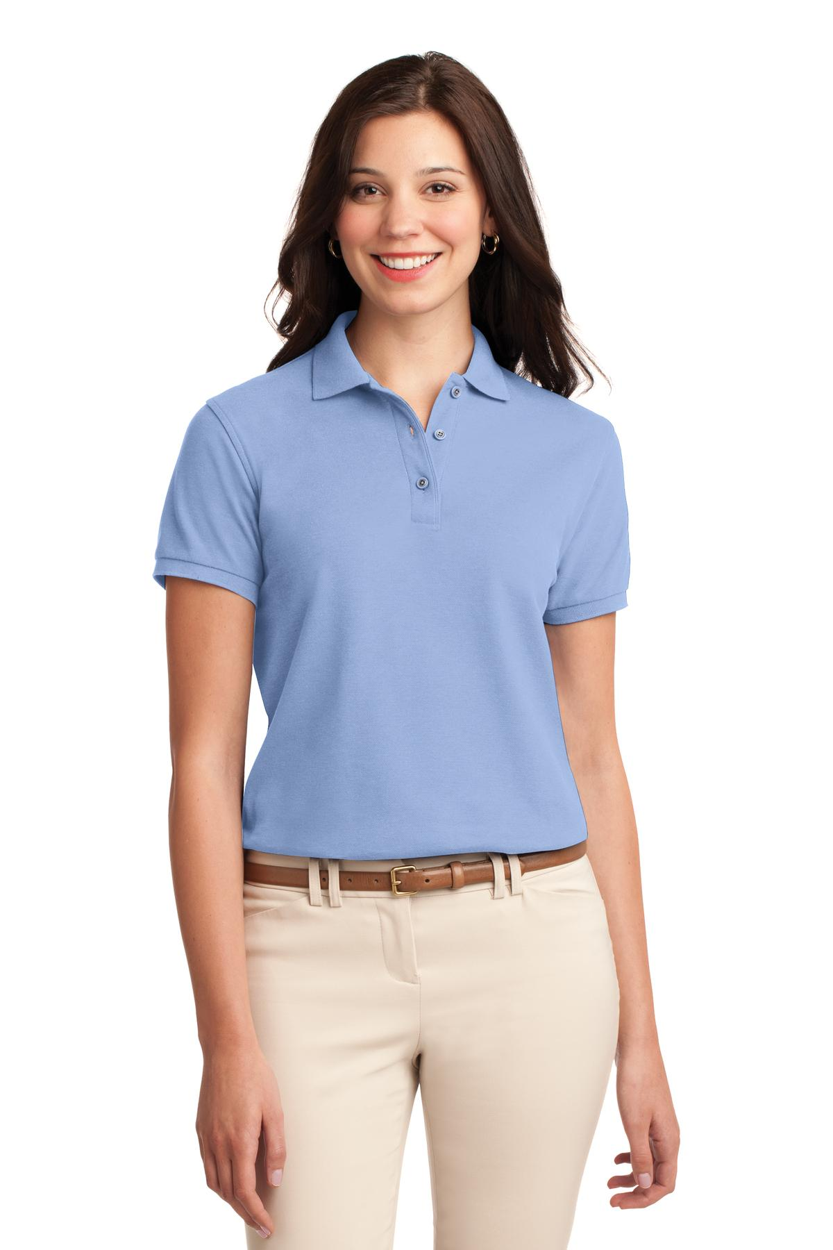 Port Authority ®  Ladies Silk Touch™ Polo.  L500 - Light Blue