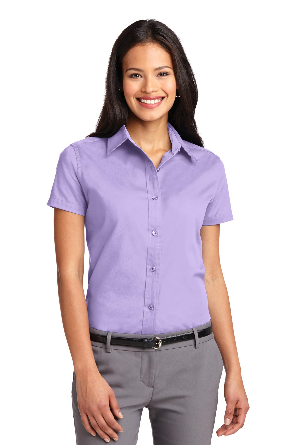 Port Authority ®  Ladies Short Sleeve Easy Care  Shirt.  L508 - Bright Lavender