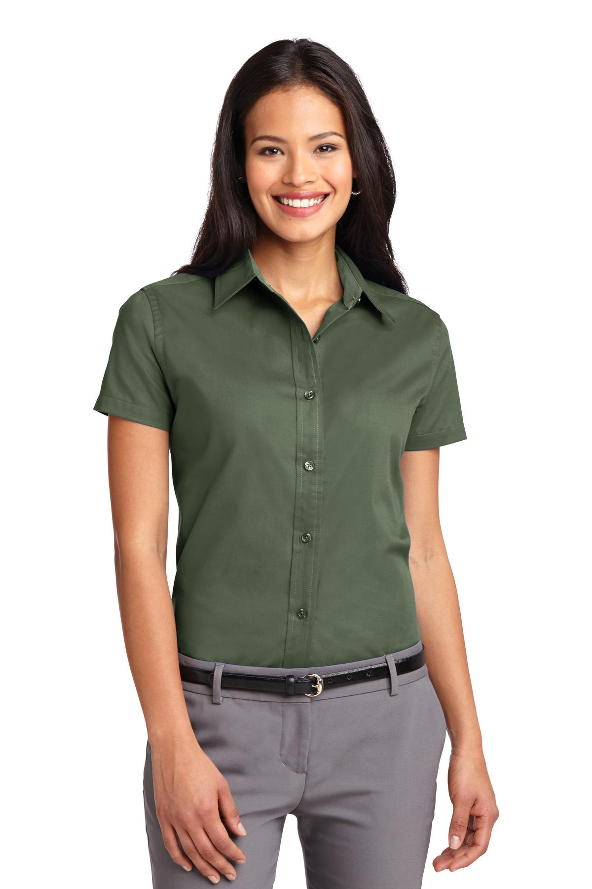 Port Authority ®  Ladies Short Sleeve Easy Care  Shirt.  L508 - Clover Green