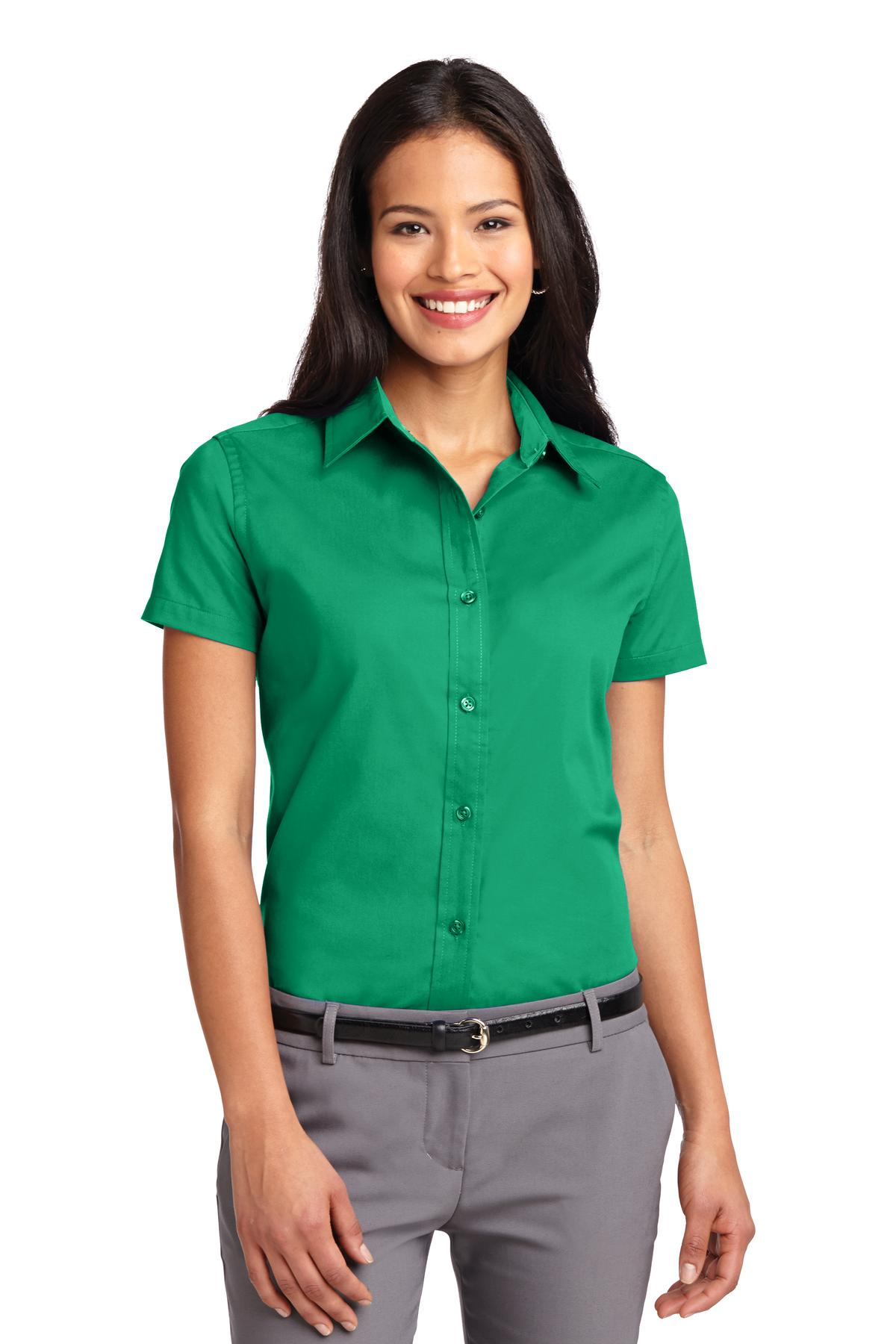 Port Authority ®  Ladies Short Sleeve Easy Care  Shirt.  L508 - Court Green