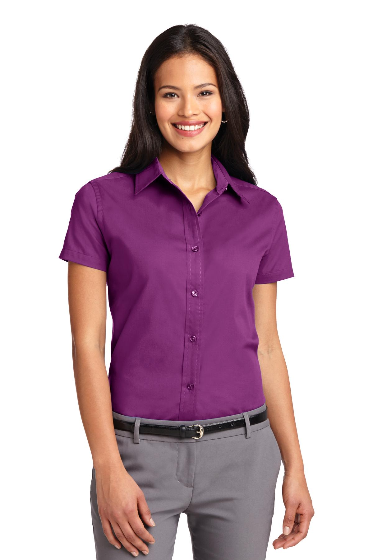Port Authority ®  Ladies Short Sleeve Easy Care  Shirt.  L508 - Deep Berry
