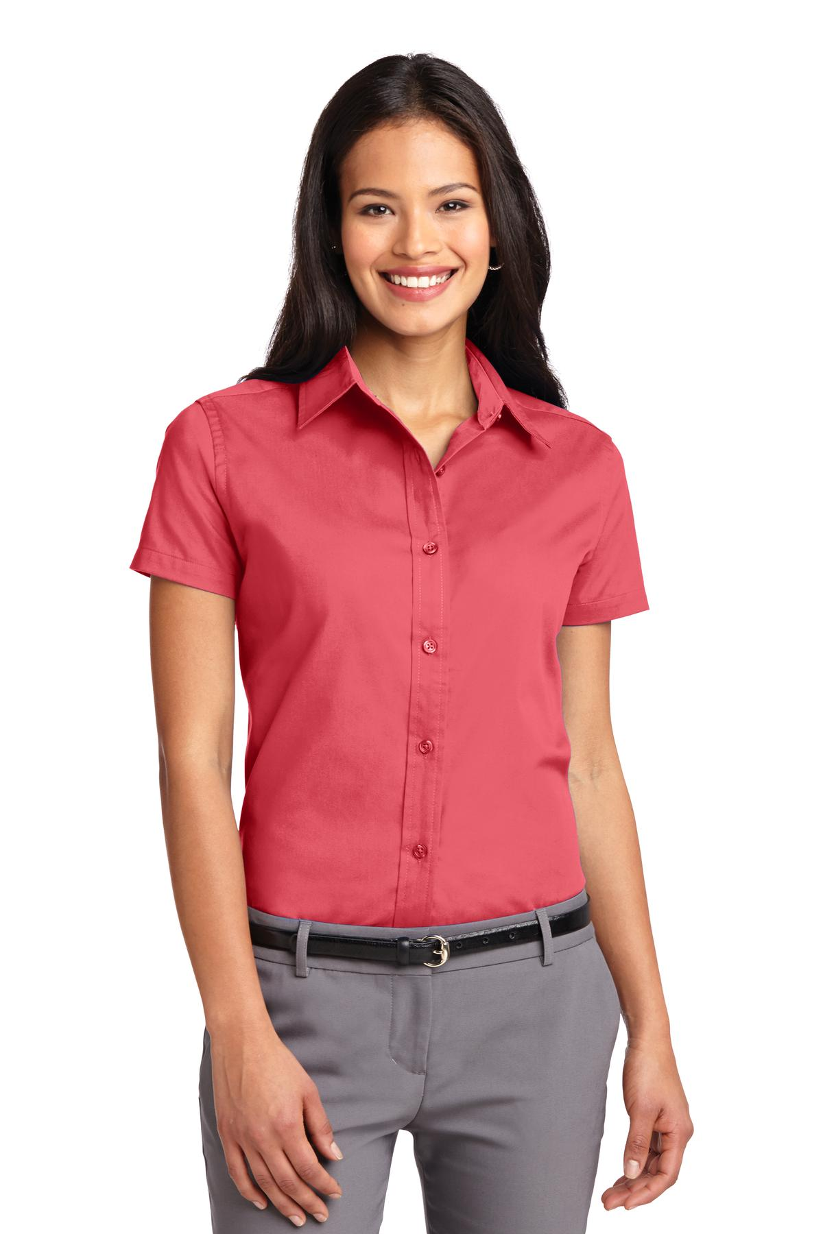 Port Authority ®  Ladies Short Sleeve Easy Care  Shirt.  L508 - Hibiscus