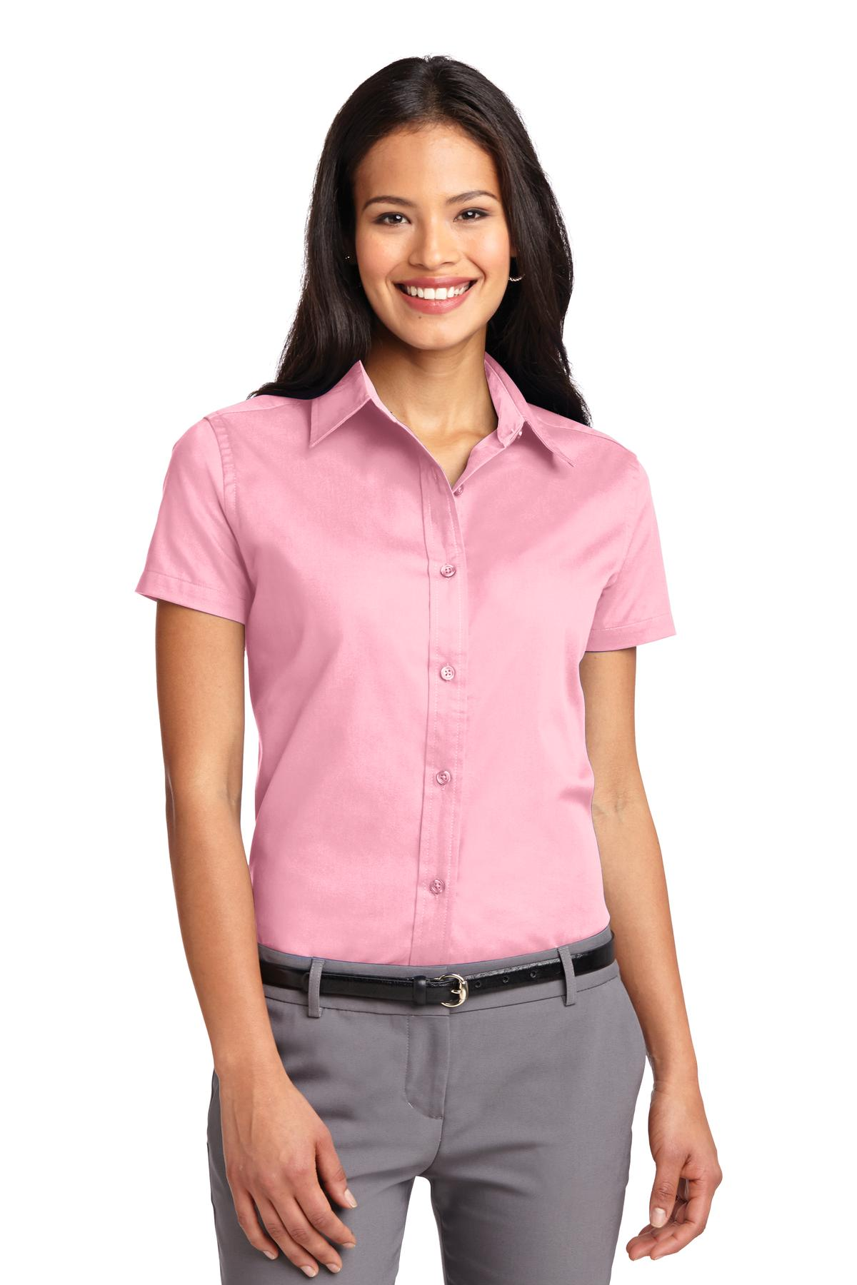Port Authority ®  Ladies Short Sleeve Easy Care  Shirt.  L508 - Light Pink