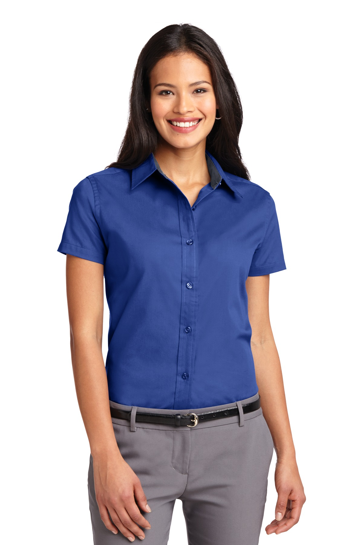 Port Authority ®  Ladies Short Sleeve Easy Care  Shirt.  L508 - Royal/ Classic Navy