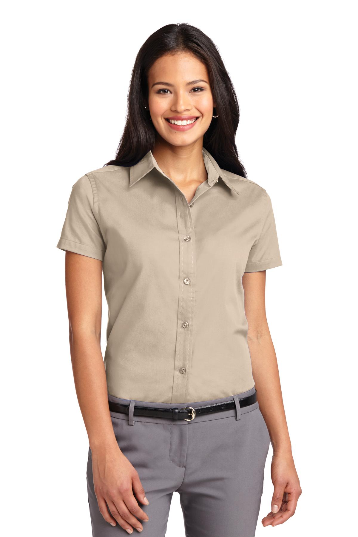 Port Authority ®  Ladies Short Sleeve Easy Care  Shirt.  L508 - Stone