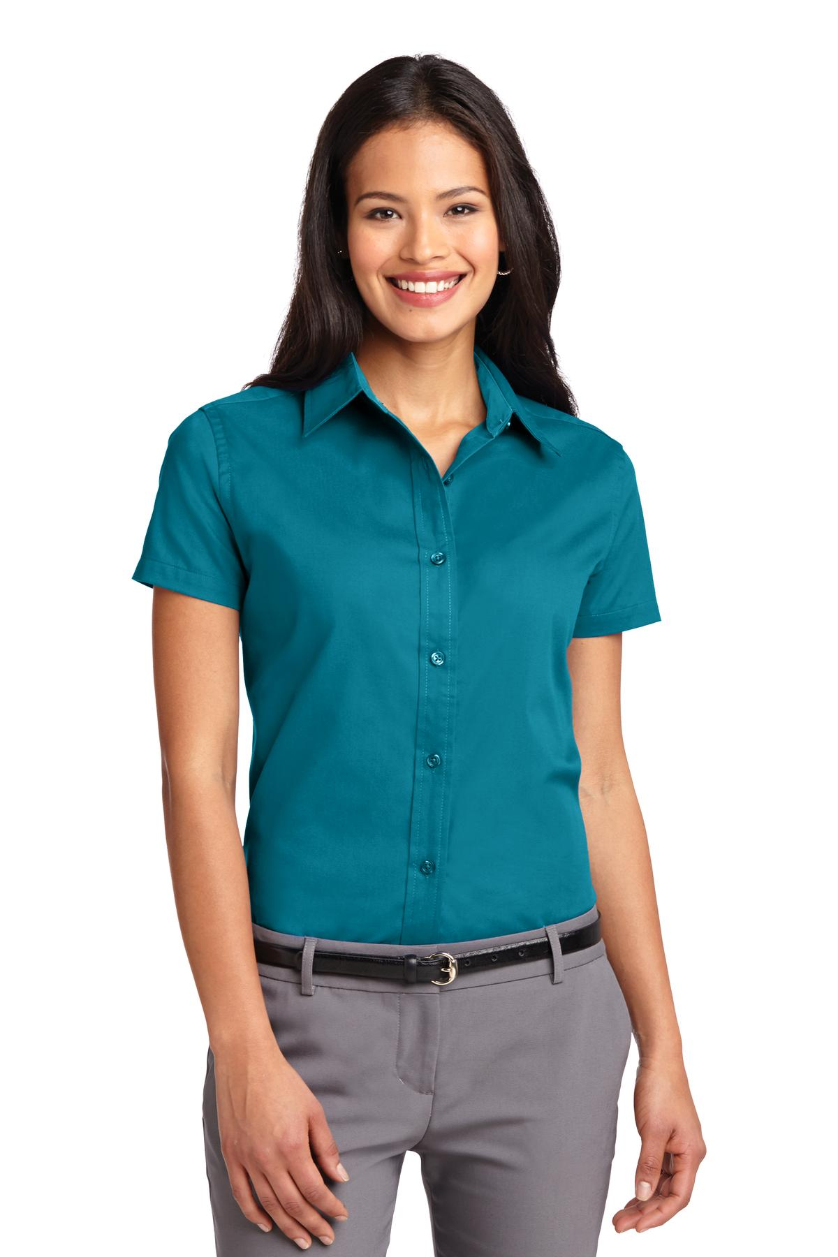 Port Authority ®  Ladies Short Sleeve Easy Care  Shirt.  L508 - Teal Green