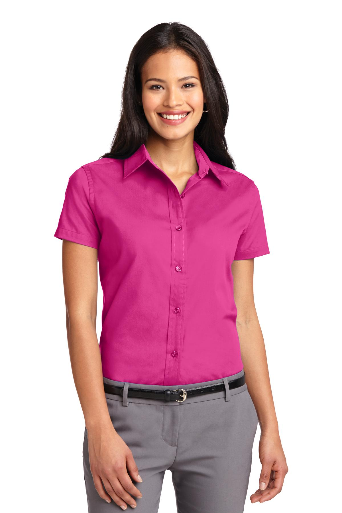 Port Authority ®  Ladies Short Sleeve Easy Care  Shirt.  L508 - Tropical Pink