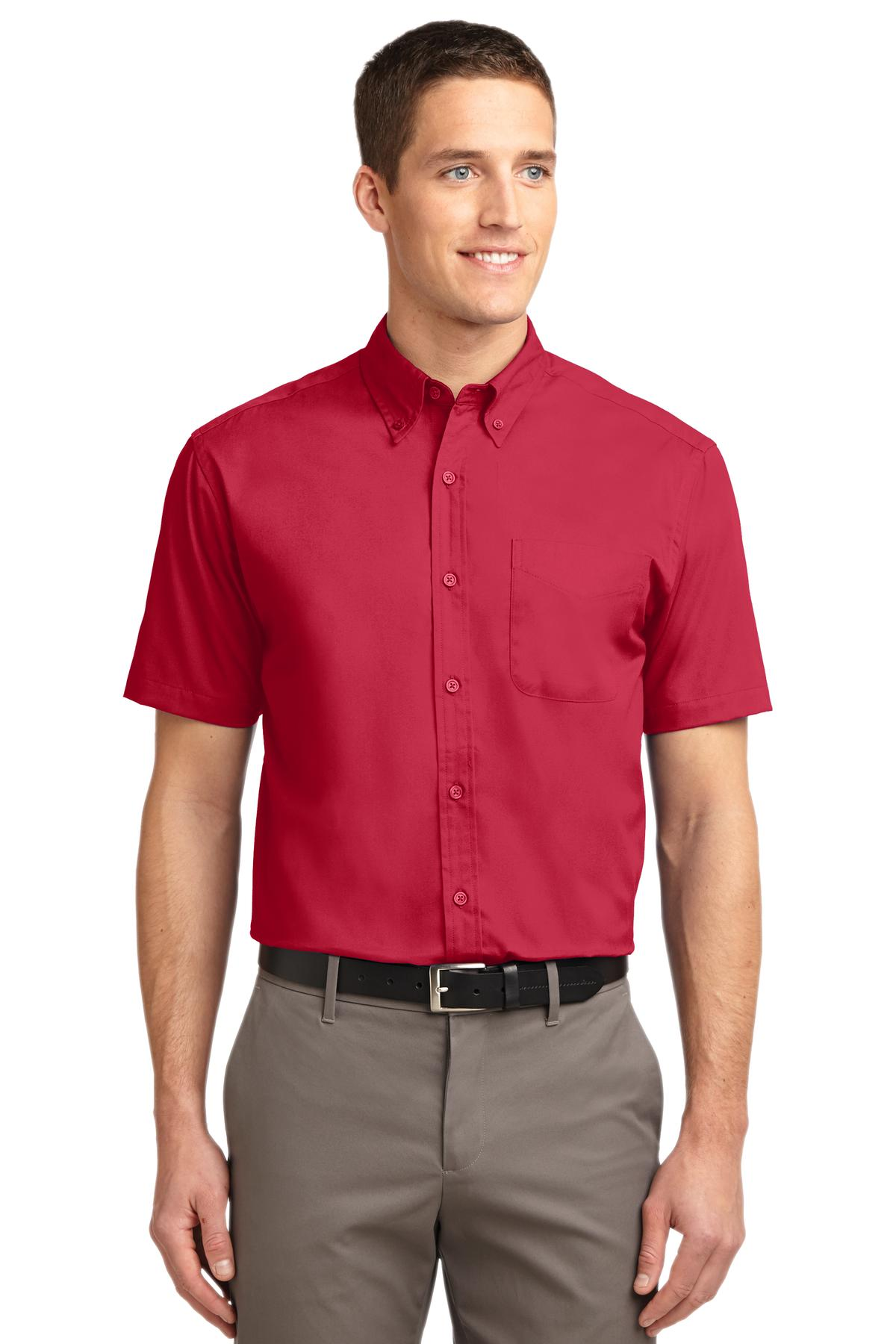 Port Authority ®  Short Sleeve Easy Care Shirt.  S508 - Red/ Light Stone