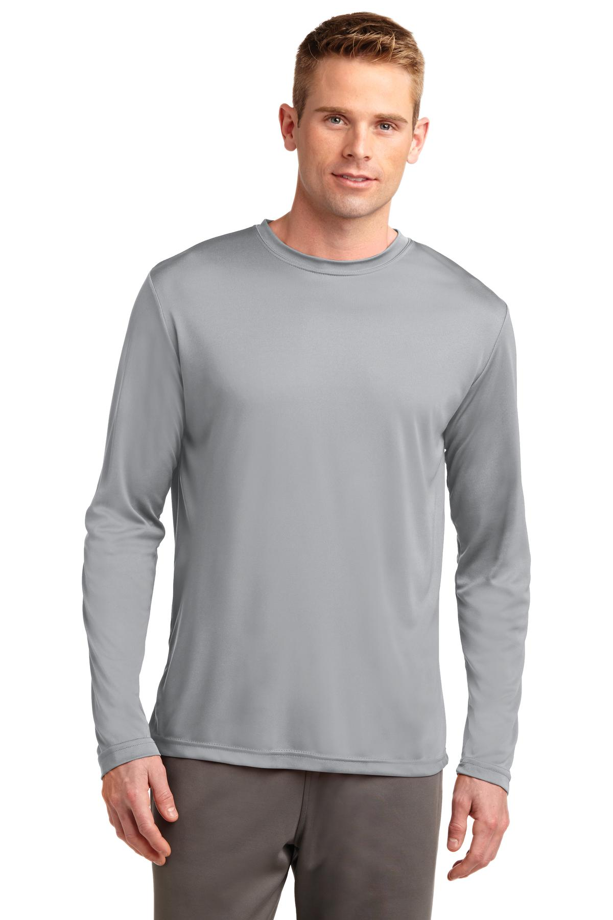 Sport-Tek ®  Long Sleeve PosiCharge ®  Competitor™ Tee. ST350LS - Silver