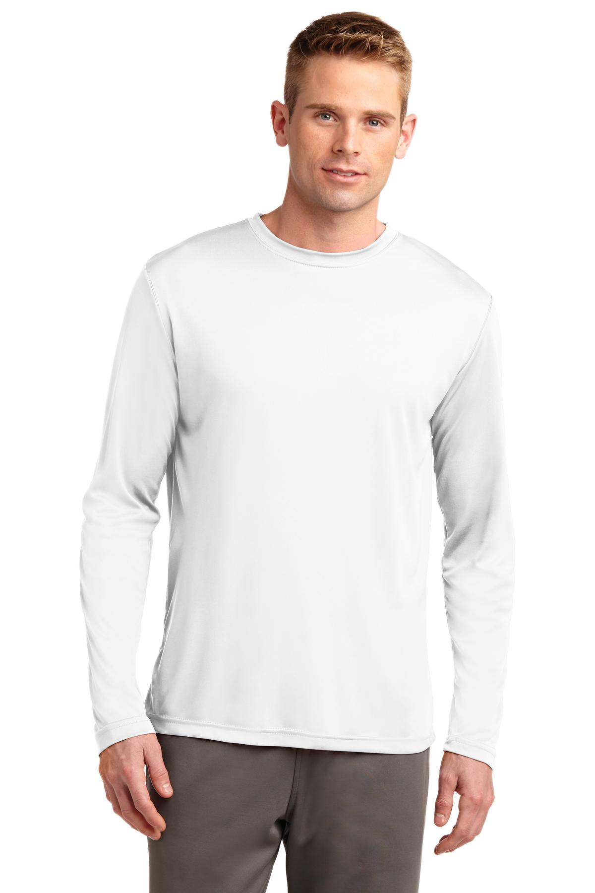 Sport-Tek ®  Long Sleeve PosiCharge ®  Competitor™ Tee. ST350LS - White