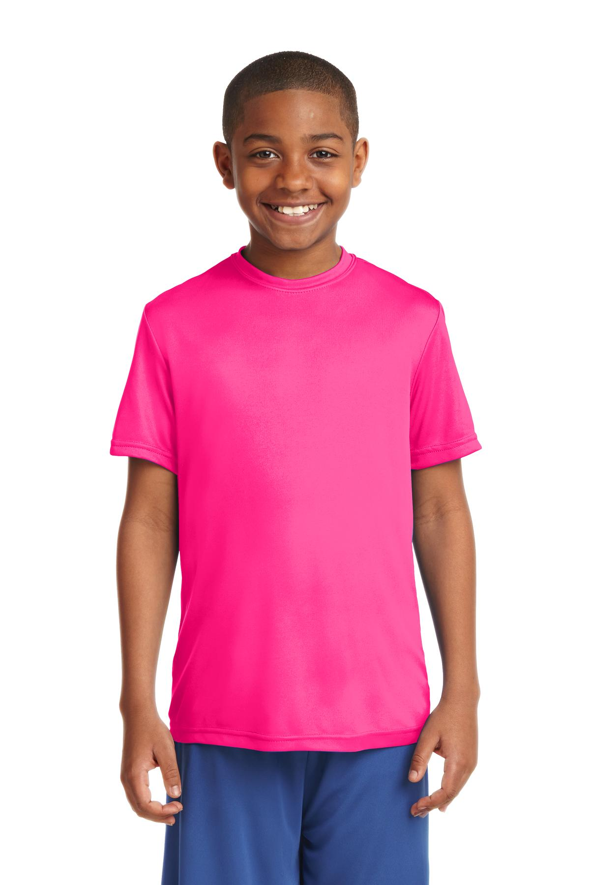 Sport-Tek ®  Youth PosiCharge ®  Competitor™ Tee. YST350 - Neon Pink