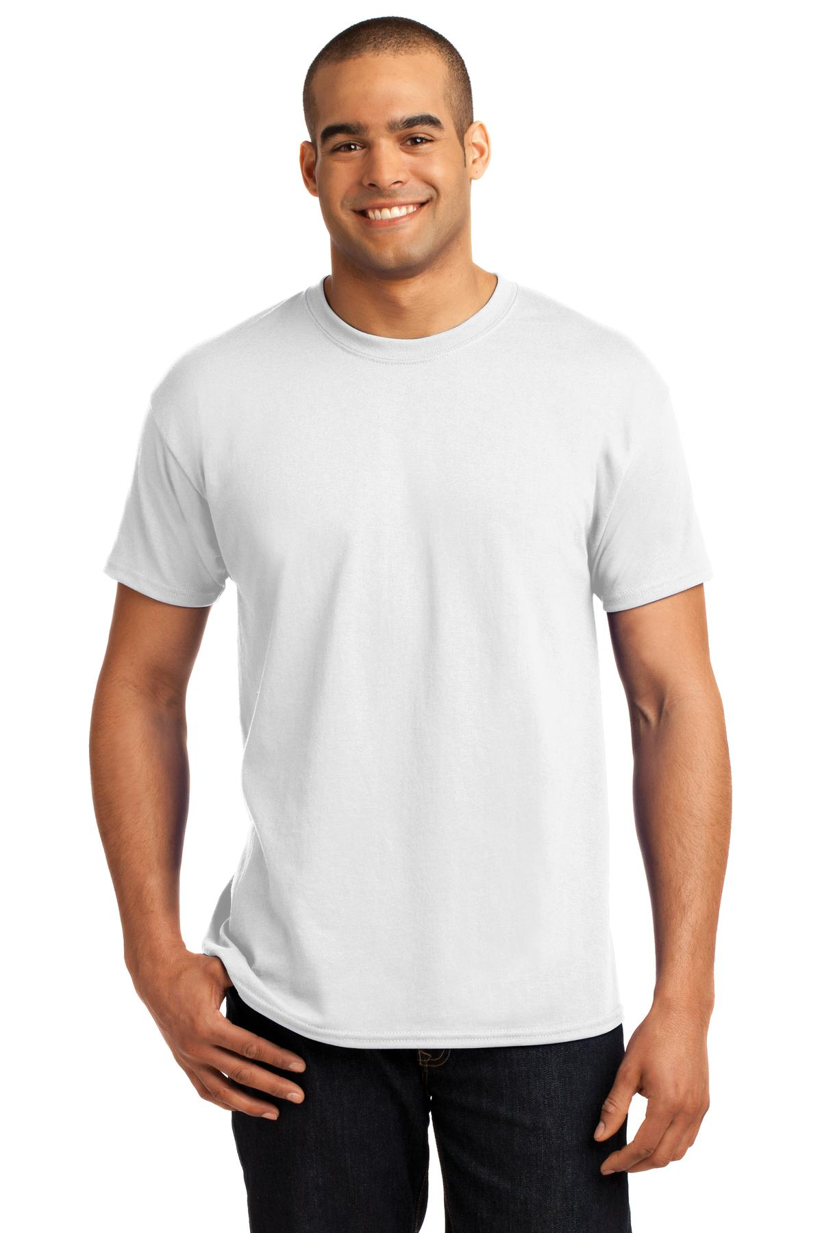 Hanes ®  - EcoSmart ®  50/50 Cotton/Poly T-Shirt.  5170 - White