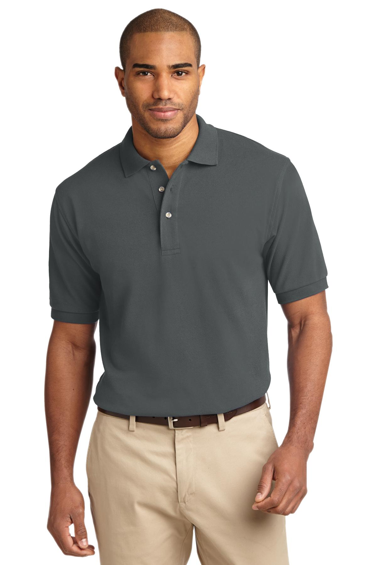 Port Authority ®  Heavyweight Cotton Pique Polo.  K420 - Steel Grey