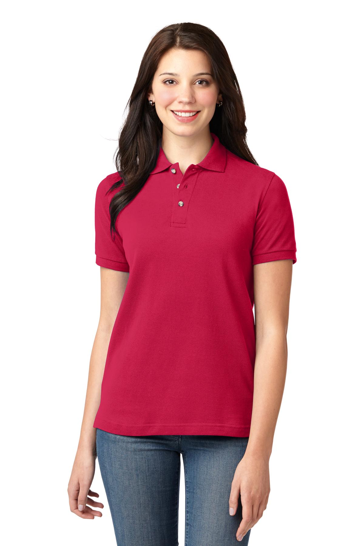 Port Authority ®  Ladies Heavyweight Cotton Pique Polo.  L420 - Red