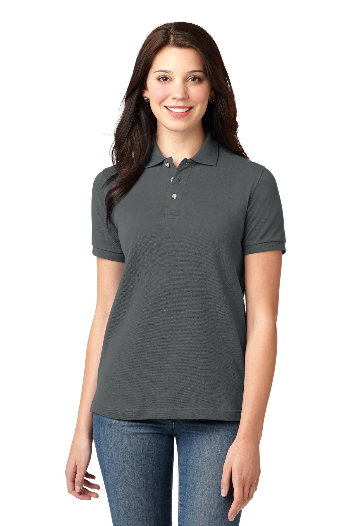 Port Authority ®  Ladies Heavyweight Cotton Pique Polo.  L420 - Steel Grey