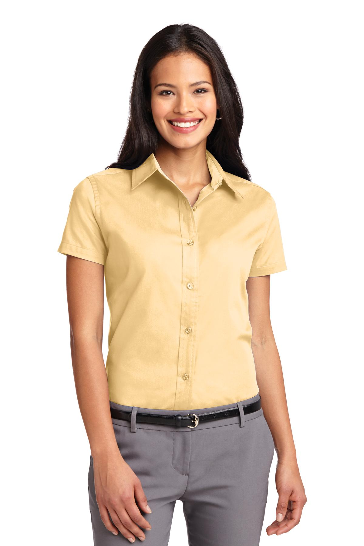 Port Authority ®  Ladies Short Sleeve Easy Care  Shirt.  L508 - Yellow