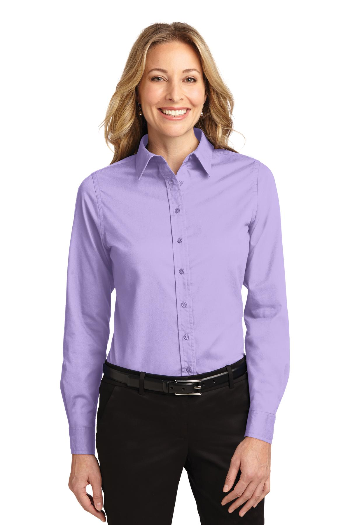 Port Authority ®  Ladies Long Sleeve Easy Care Shirt.  L608 - Bright Lavender