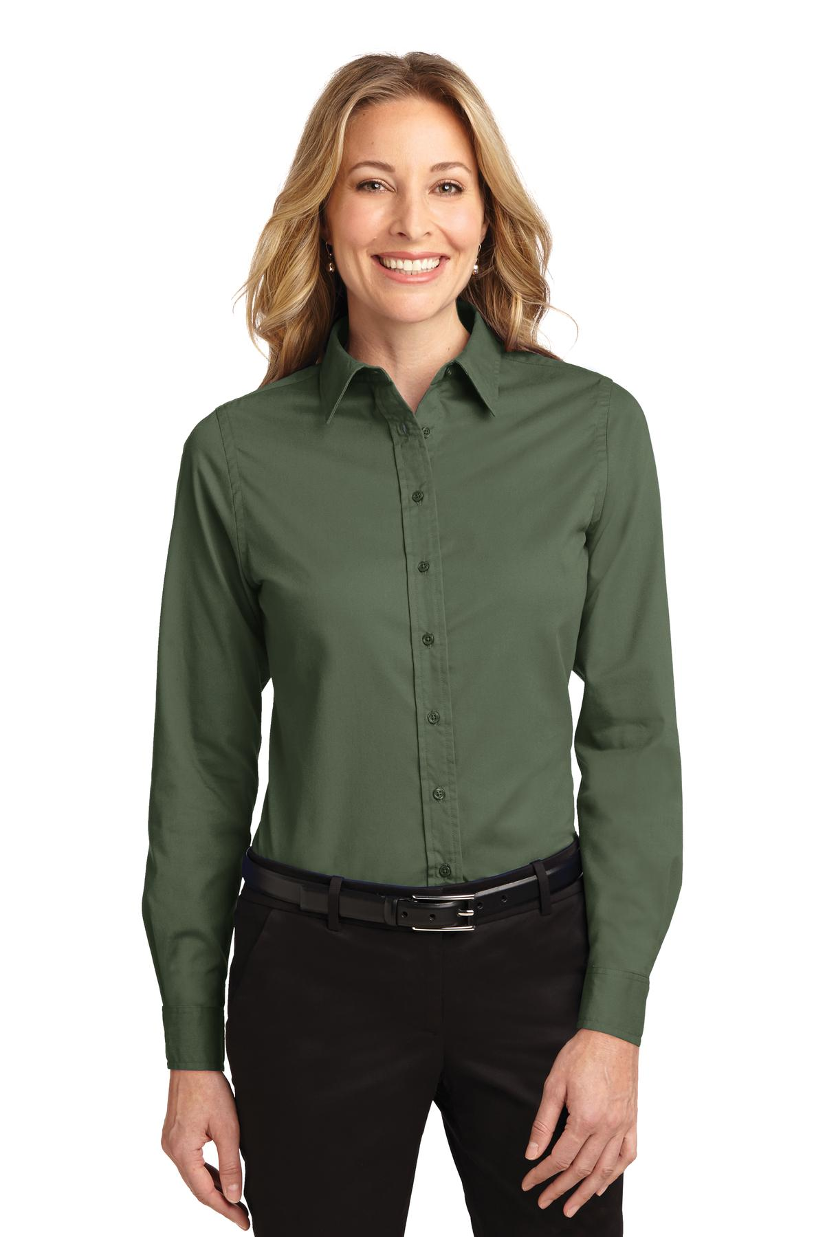 Port Authority ®  Ladies Long Sleeve Easy Care Shirt.  L608 - Clover Green