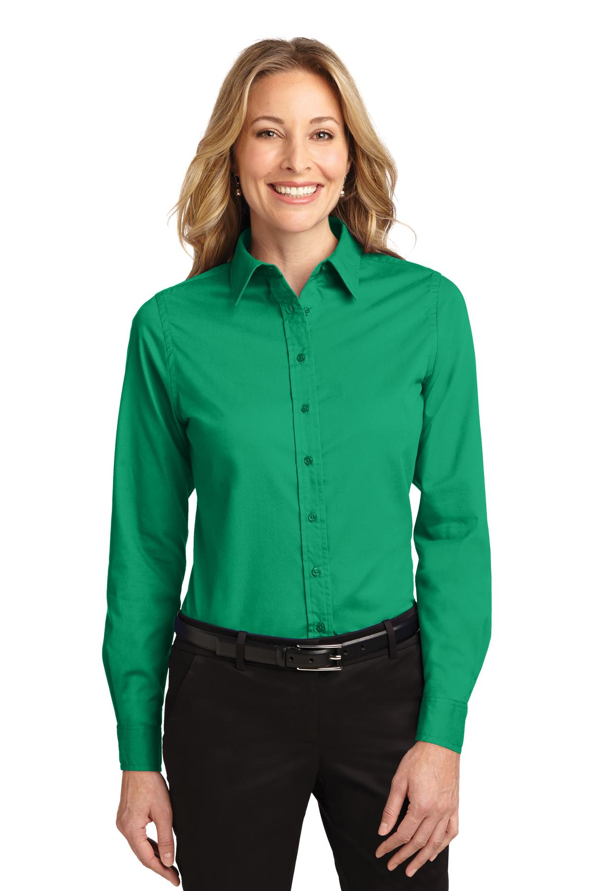 Port Authority ®  Ladies Long Sleeve Easy Care Shirt.  L608 - Court Green