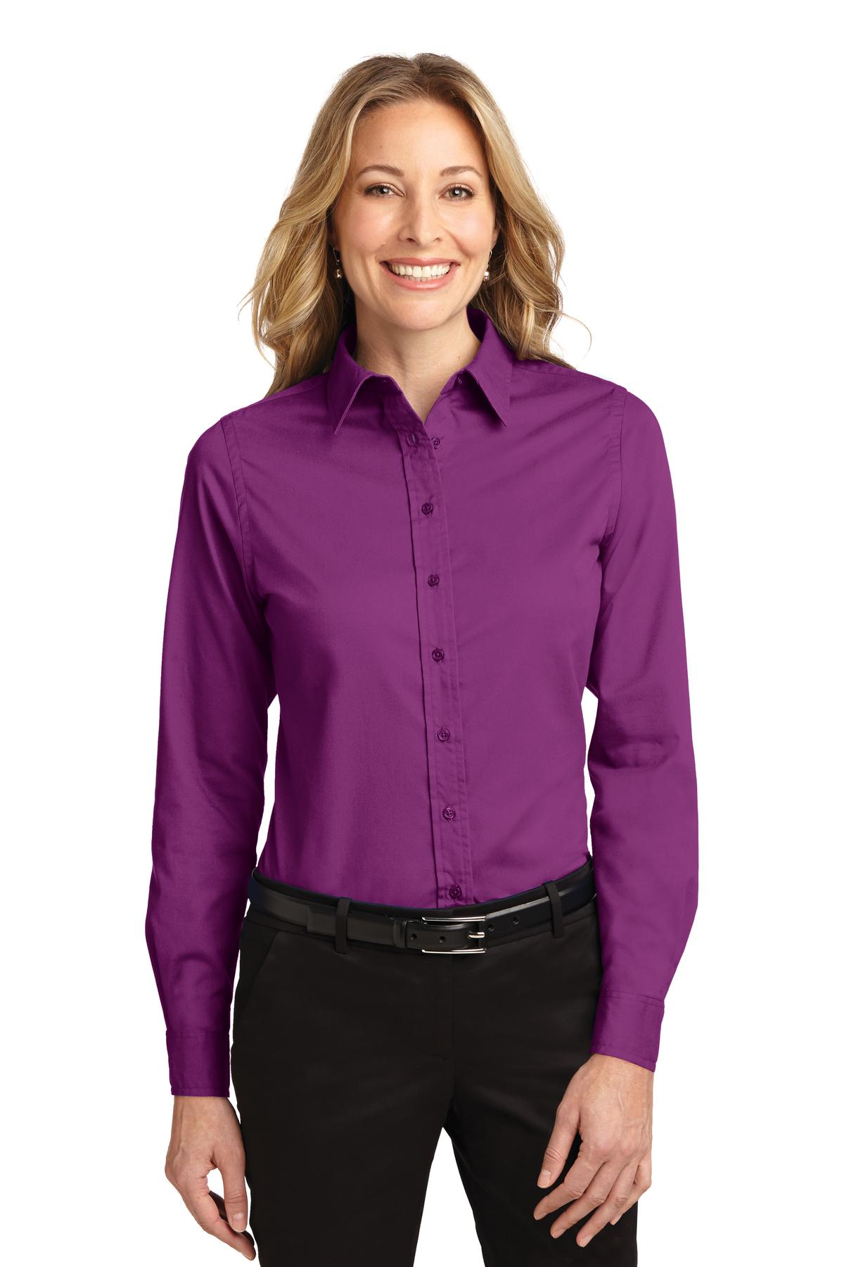Port Authority ®  Ladies Long Sleeve Easy Care Shirt.  L608 - Deep Berry