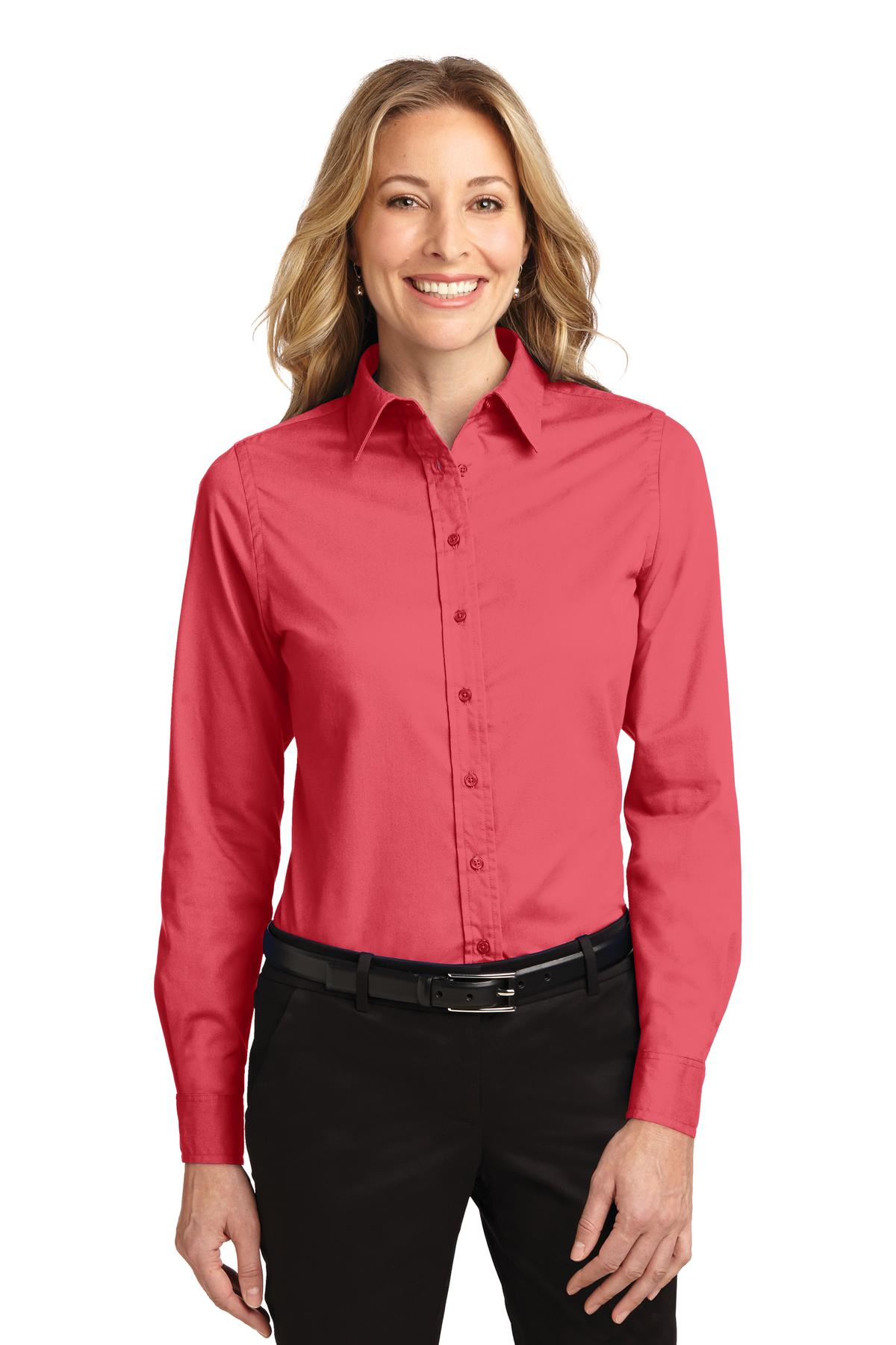 Port Authority ®  Ladies Long Sleeve Easy Care Shirt.  L608 - Hibiscus