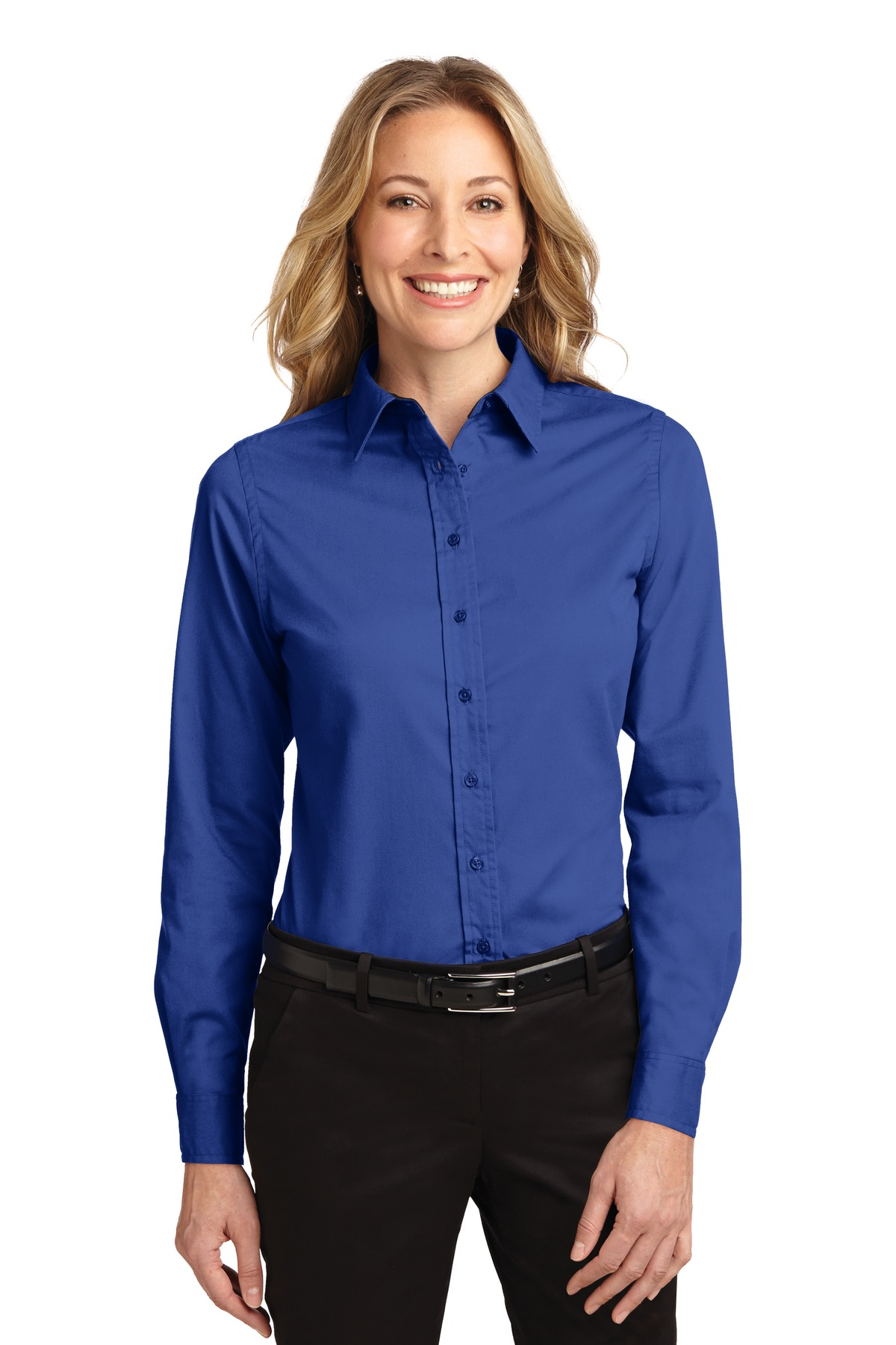 Port Authority ®  Ladies Long Sleeve Easy Care Shirt.  L608 - Royal/ Classic Navy