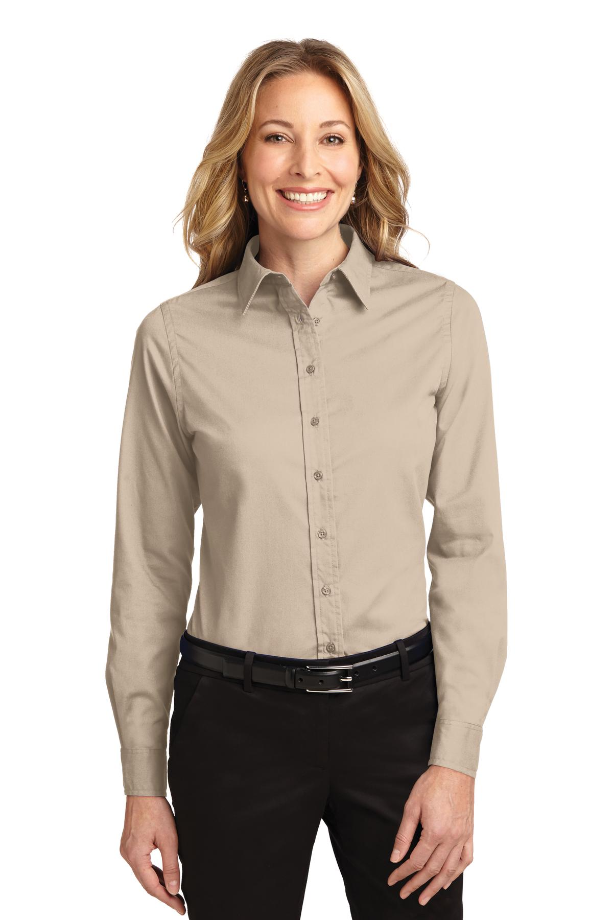 Port Authority ®  Ladies Long Sleeve Easy Care Shirt.  L608 - Stone