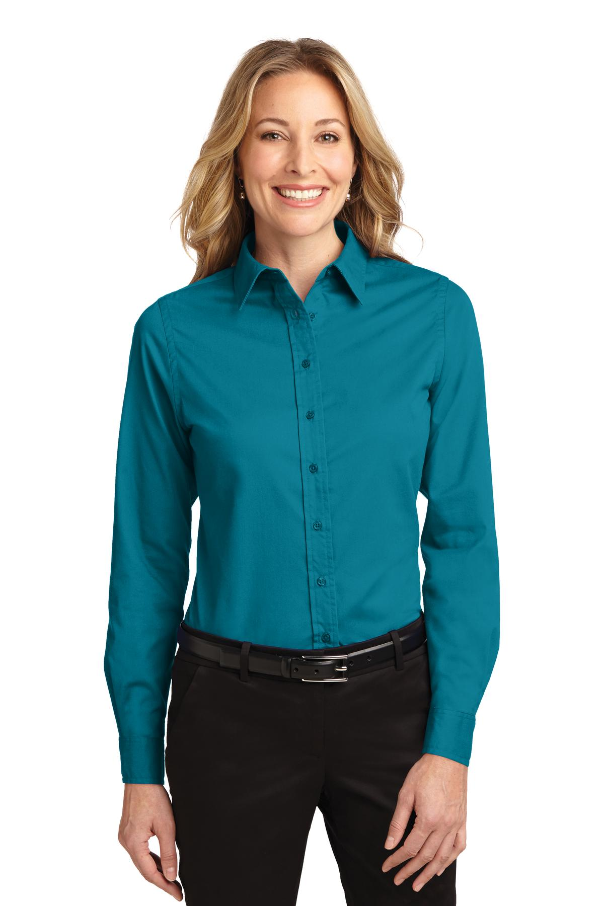 Port Authority ®  Ladies Long Sleeve Easy Care Shirt.  L608 - Teal Green
