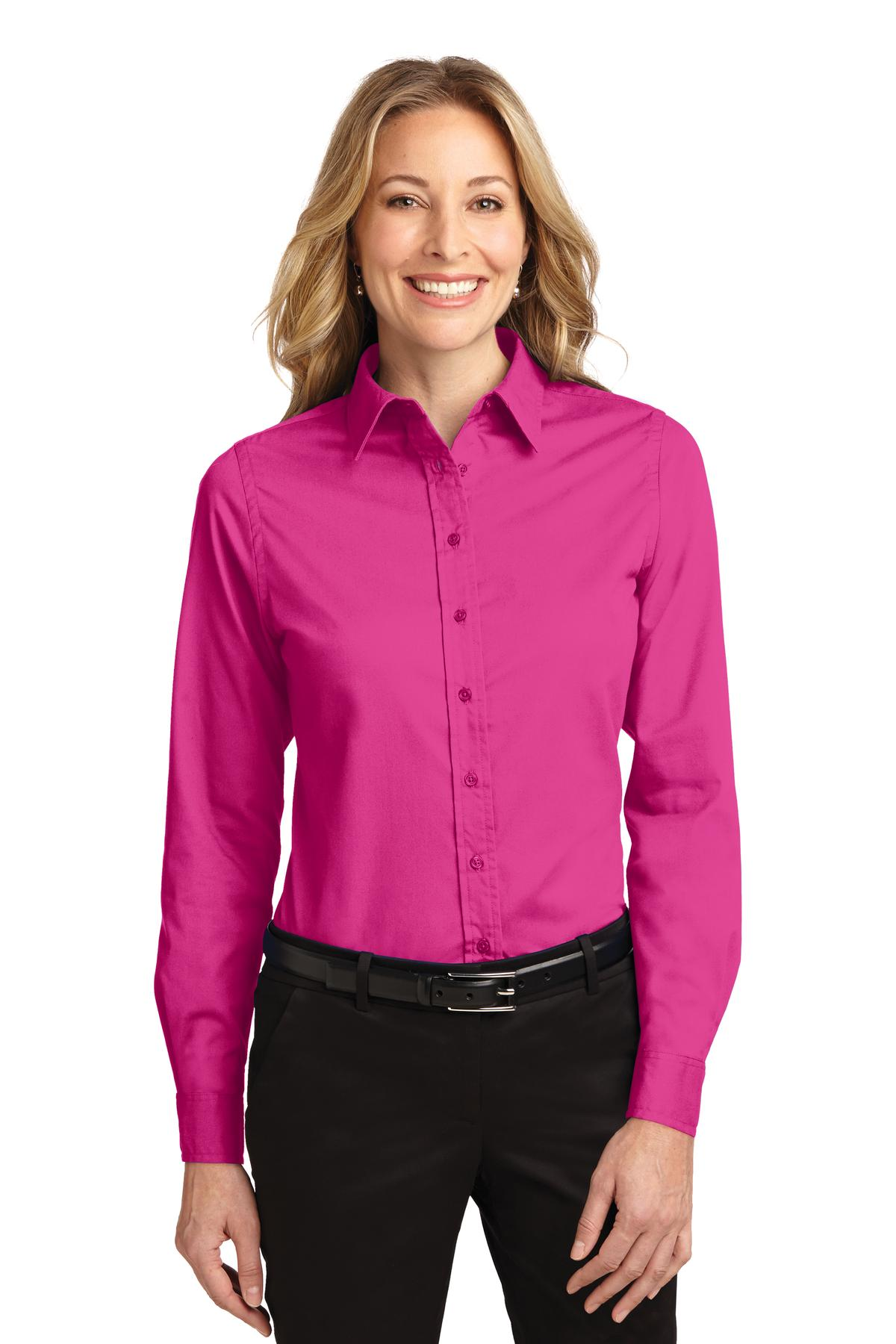 Port Authority ®  Ladies Long Sleeve Easy Care Shirt.  L608 - Tropical Pink