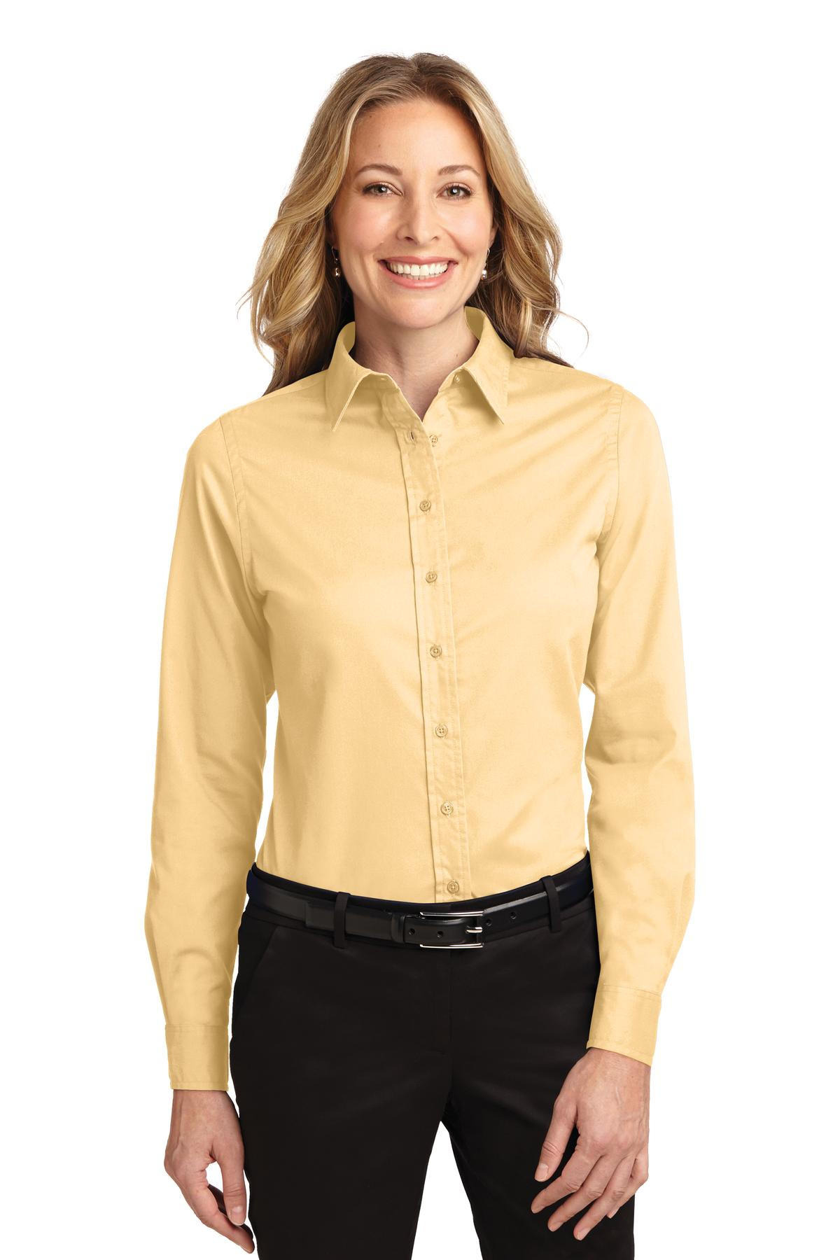 Port Authority ®  Ladies Long Sleeve Easy Care Shirt.  L608 - Yellow