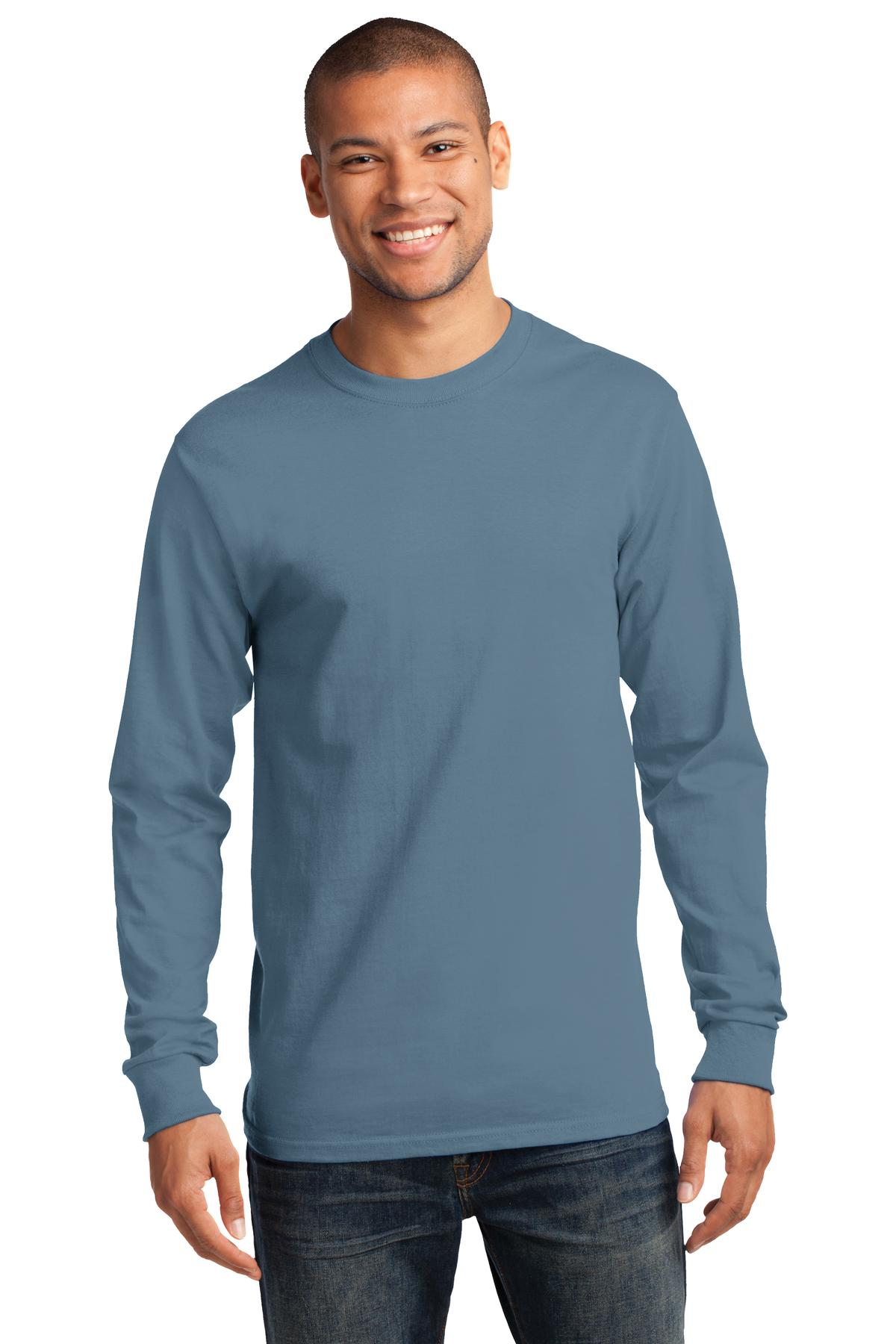 Port and Company - Tall Long Sleeve Essential Tee. PC61LST