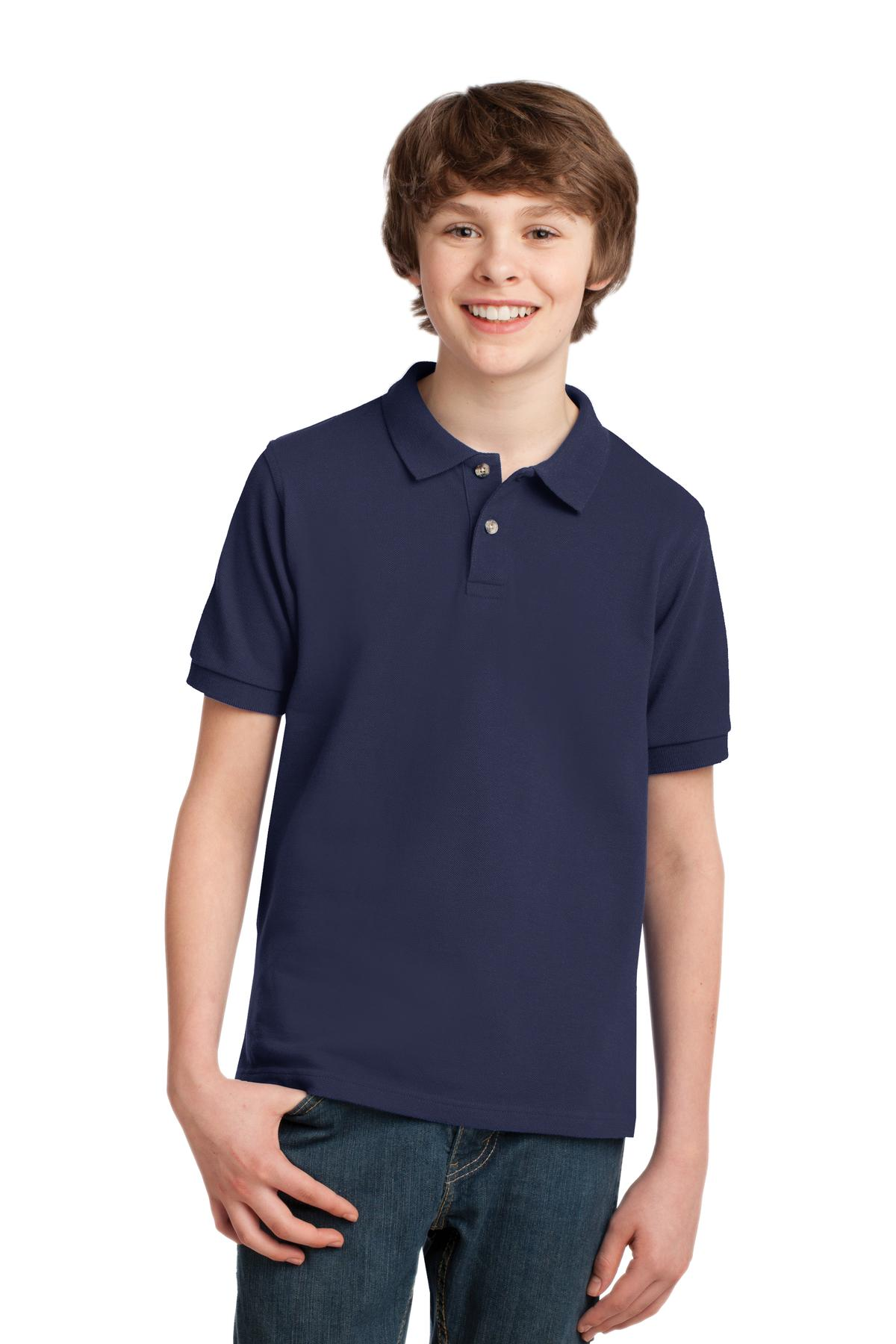DISCONTINUED Port Authority Youth Heavyweight Cotton Pique Polo. Y420