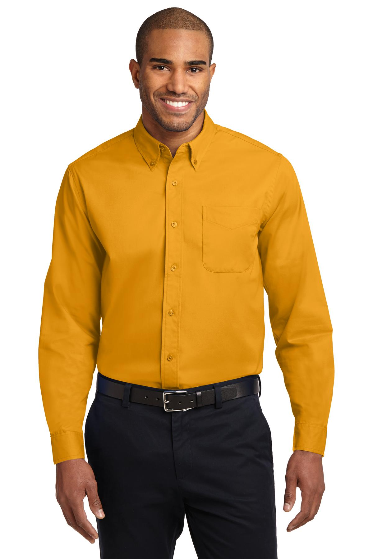 Port Authority ®  Extended Size Long Sleeve Easy Care Shirt. S608ES - Athletic Gold/ Light Stone