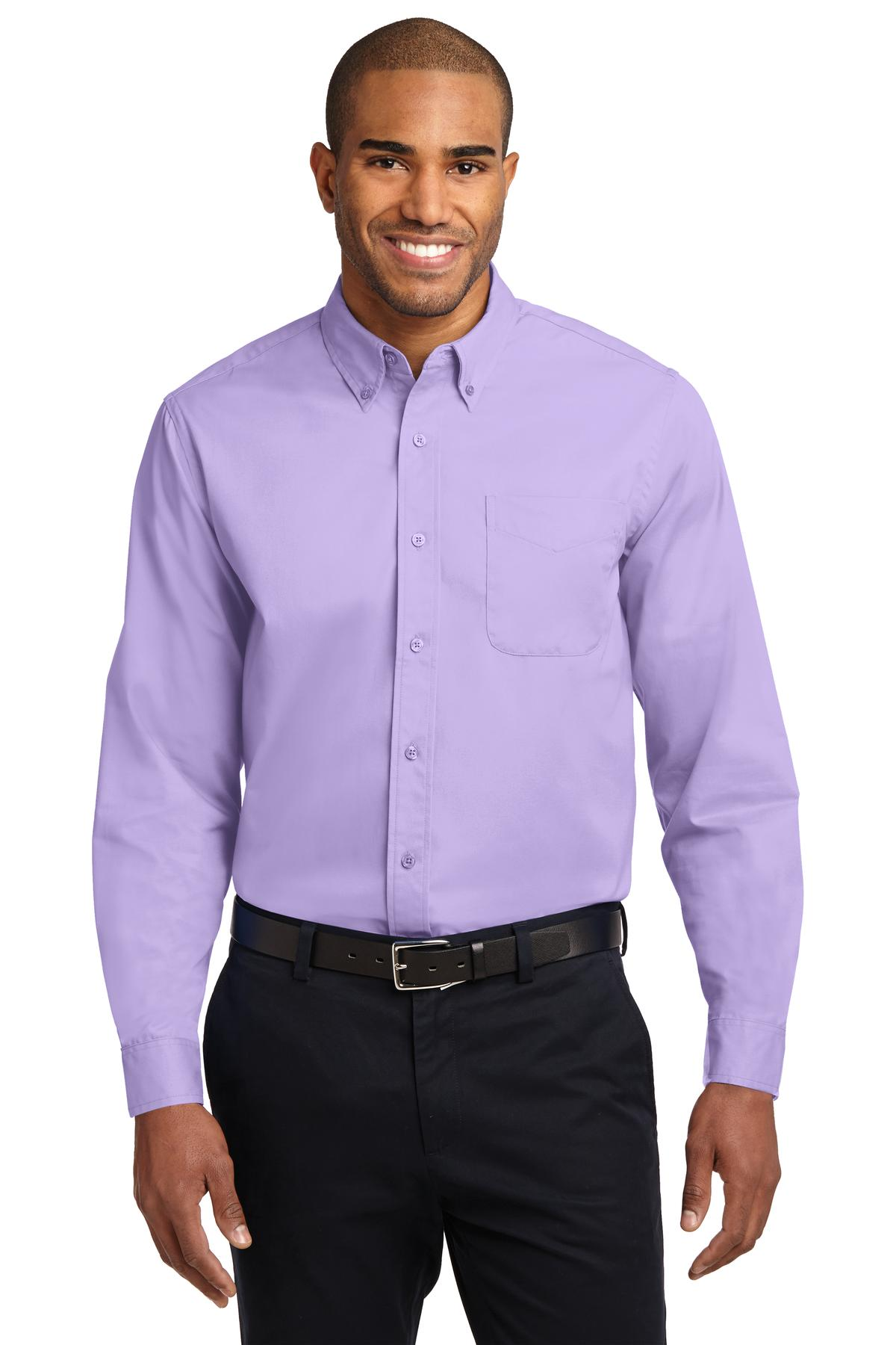 Port Authority ®  Extended Size Long Sleeve Easy Care Shirt. S608ES - Bright Lavender