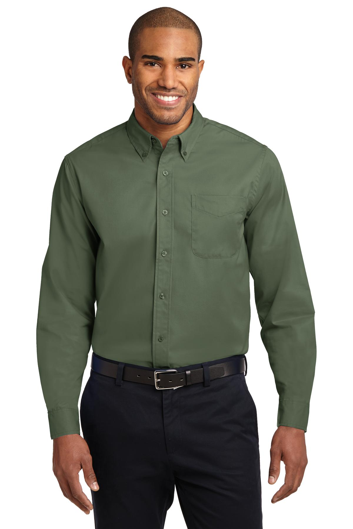 Port Authority ®  Extended Size Long Sleeve Easy Care Shirt. S608ES - Clover Green