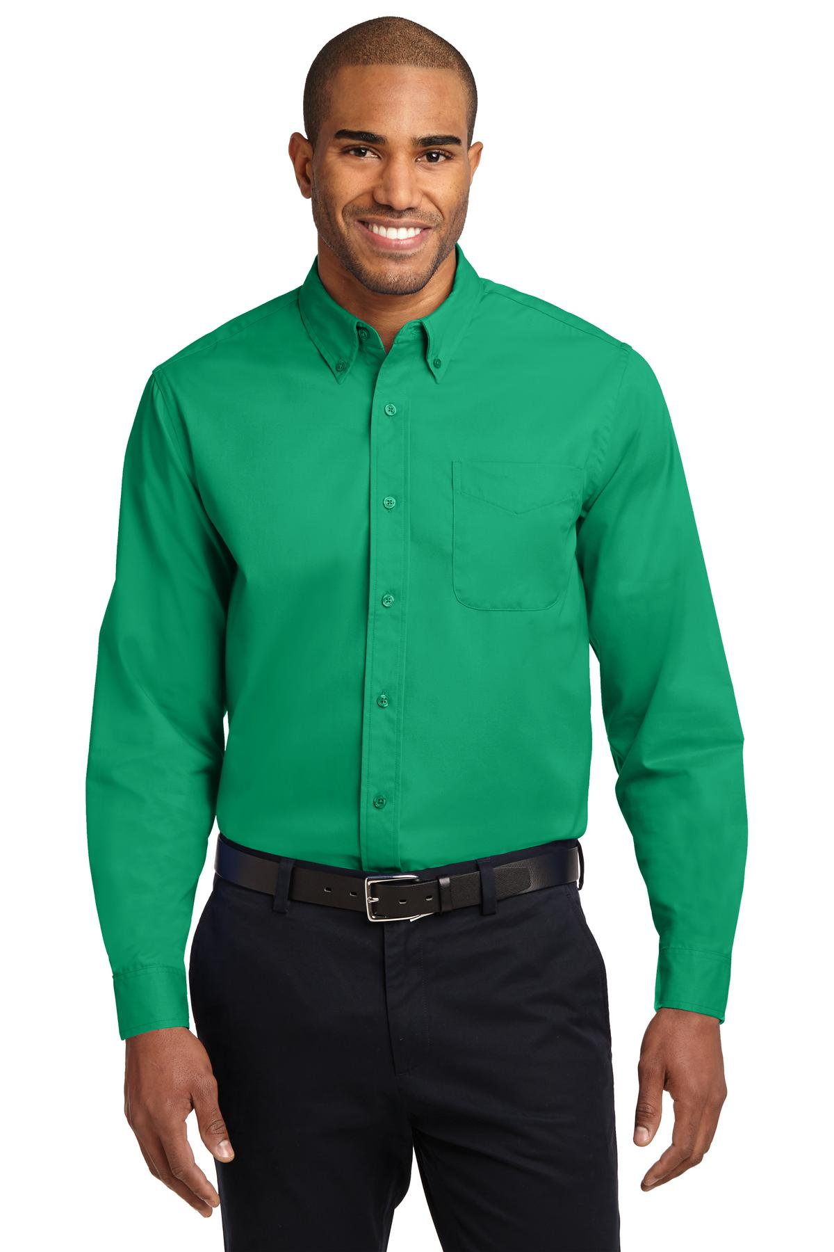 Port Authority ®  Extended Size Long Sleeve Easy Care Shirt. S608ES - Court Green