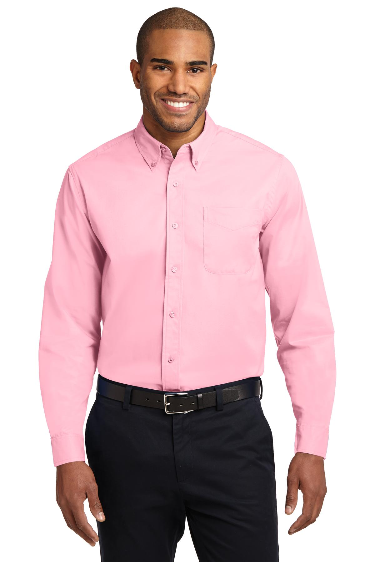 Port Authority ®  Extended Size Long Sleeve Easy Care Shirt. S608ES - Light Pink