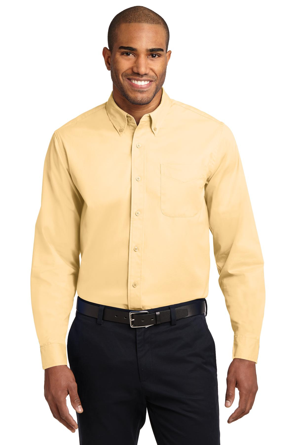Port Authority ®  Extended Size Long Sleeve Easy Care Shirt. S608ES - Yellow