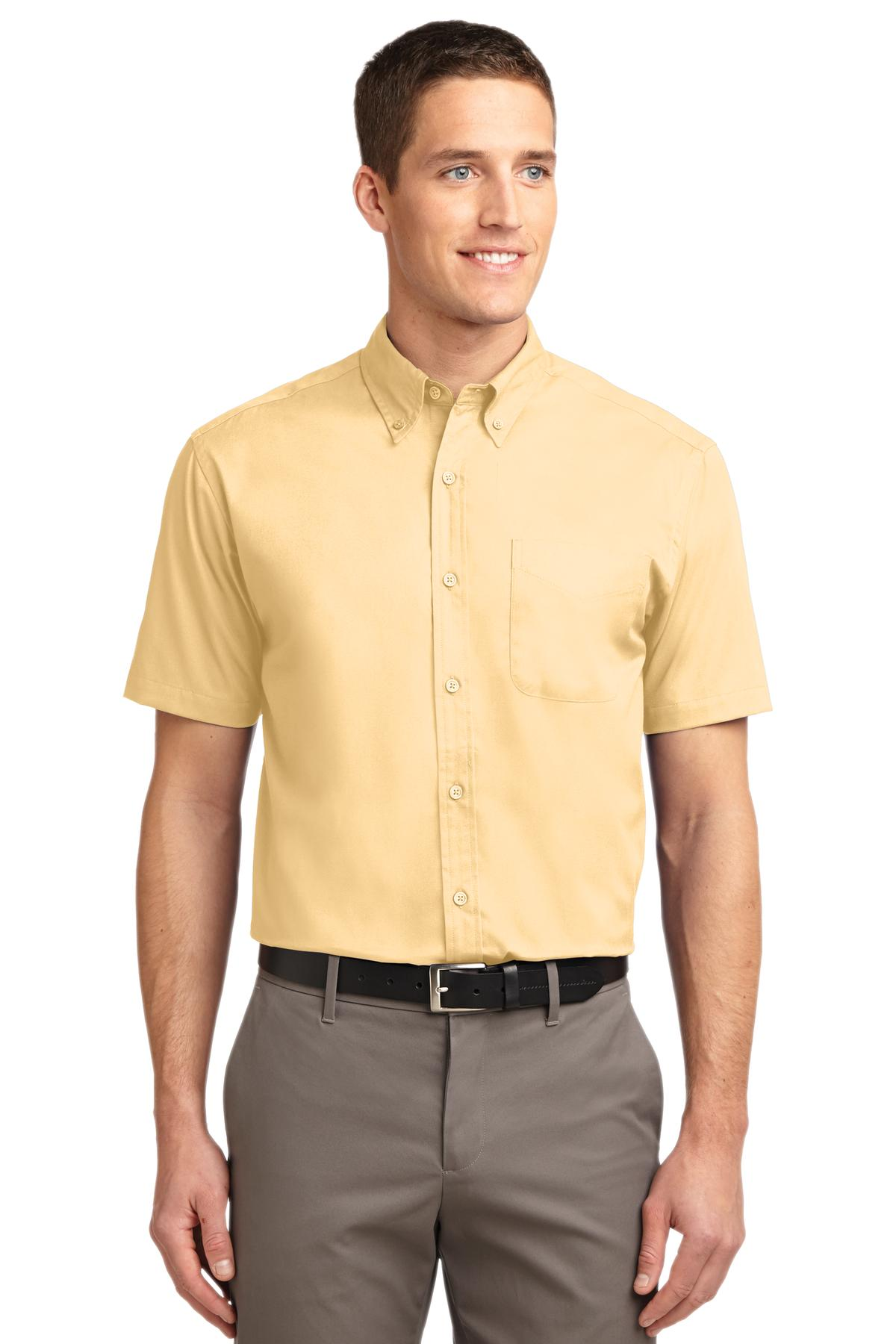 Port Authority ®  Tall Short Sleeve Easy Care Shirt. TLS508 - Yellow