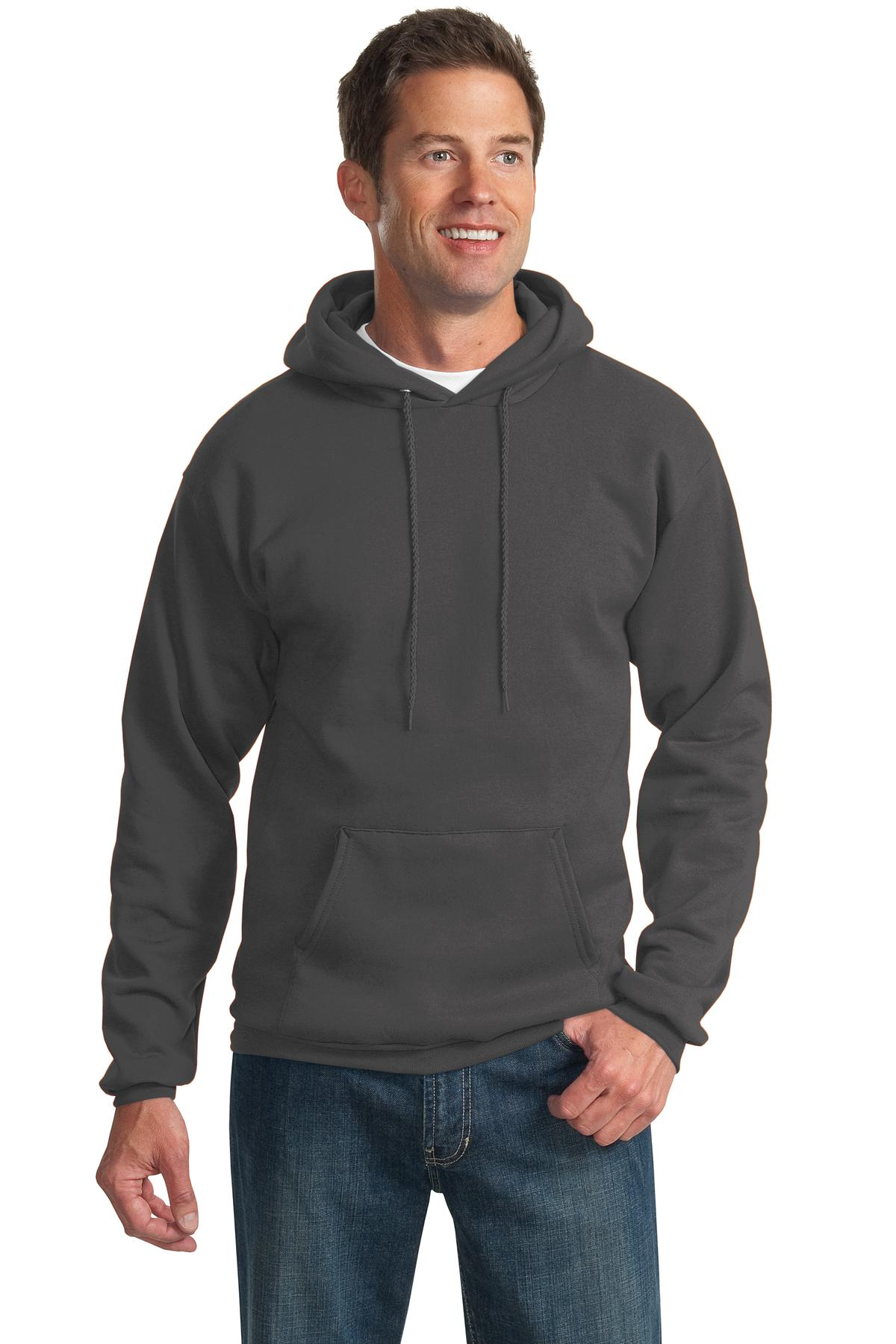 Port & Company ®  -  Essential Fleece Pullover Hooded Sweatshirt.  PC90H - Charcoal