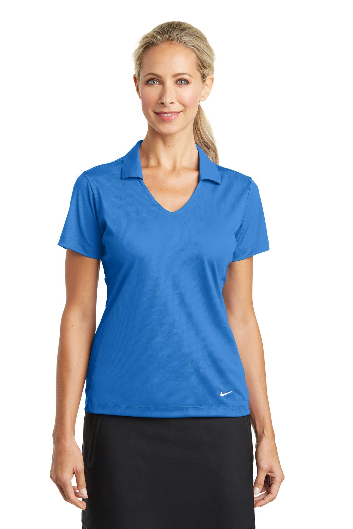 Nike Ladies Dri-FIT Vertical Mesh Polo. 637165