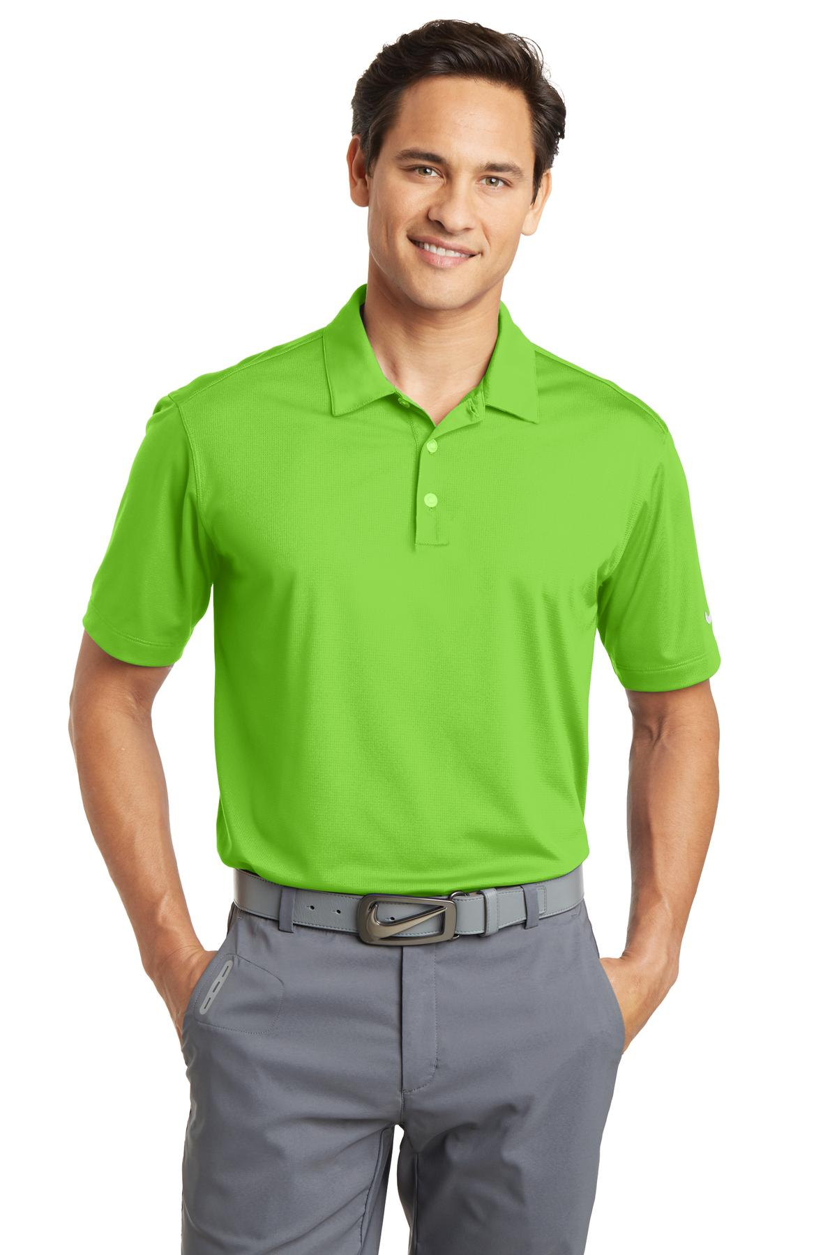 Nike Dri-FIT Vertical Mesh Polo. 637167 - Action Green