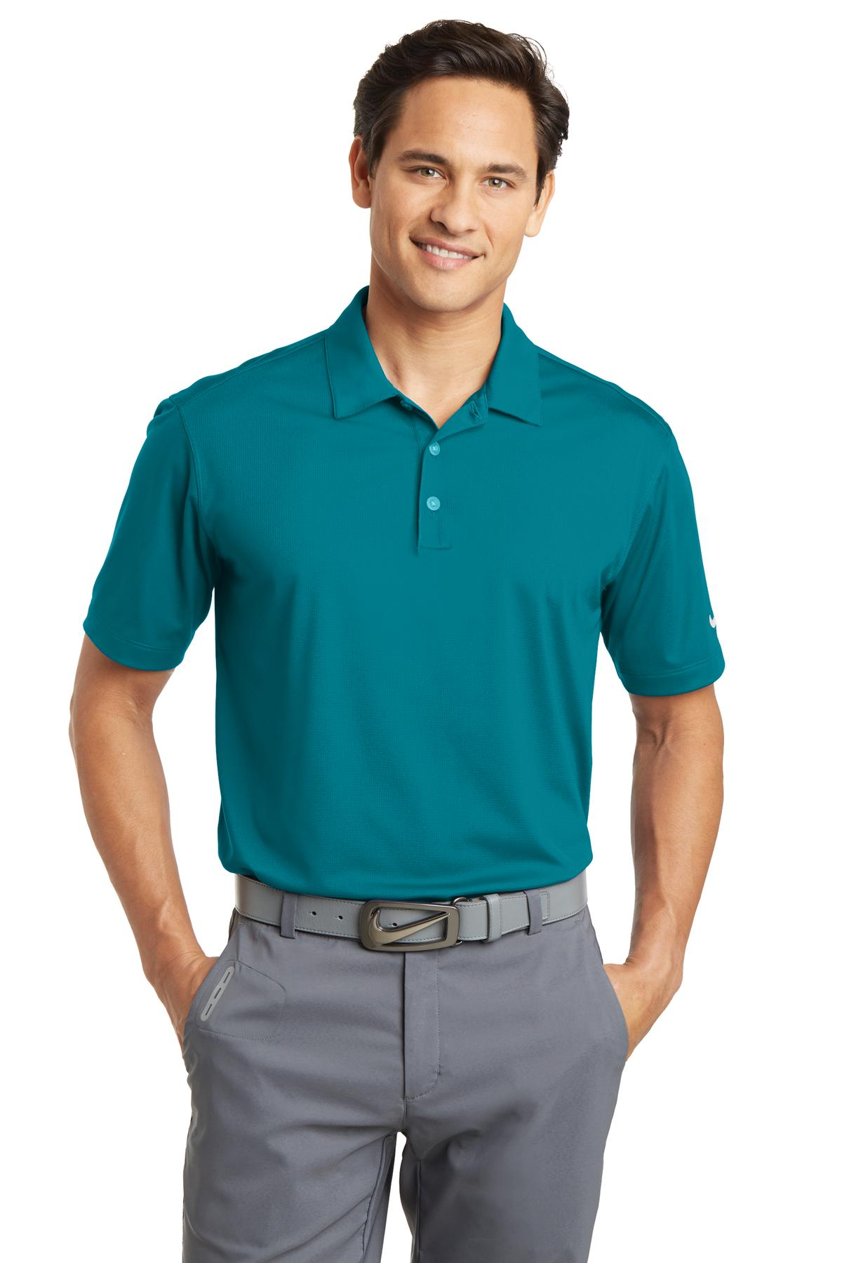 Nike Dri-FIT Vertical Mesh Polo. 637167 - Blustery