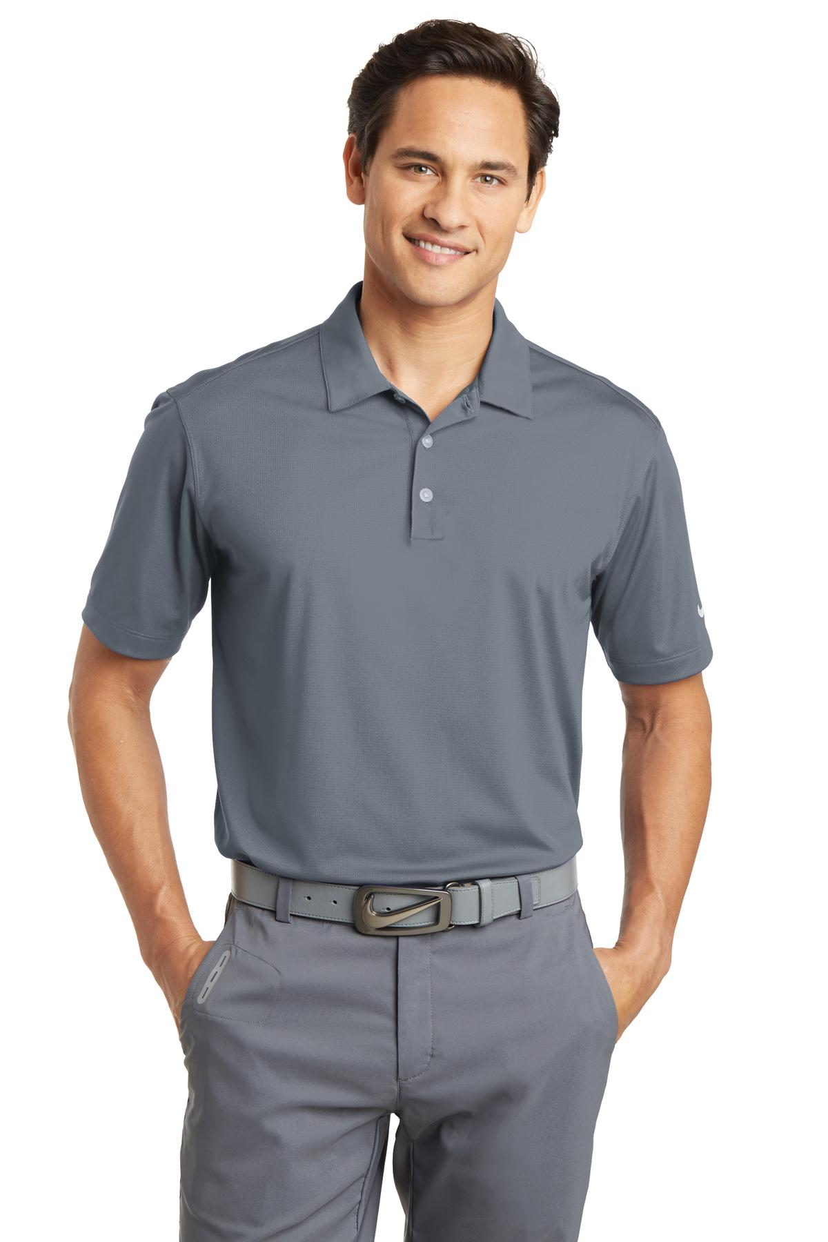 Nike Dri-FIT Vertical Mesh Polo. 637167 - Cool Grey