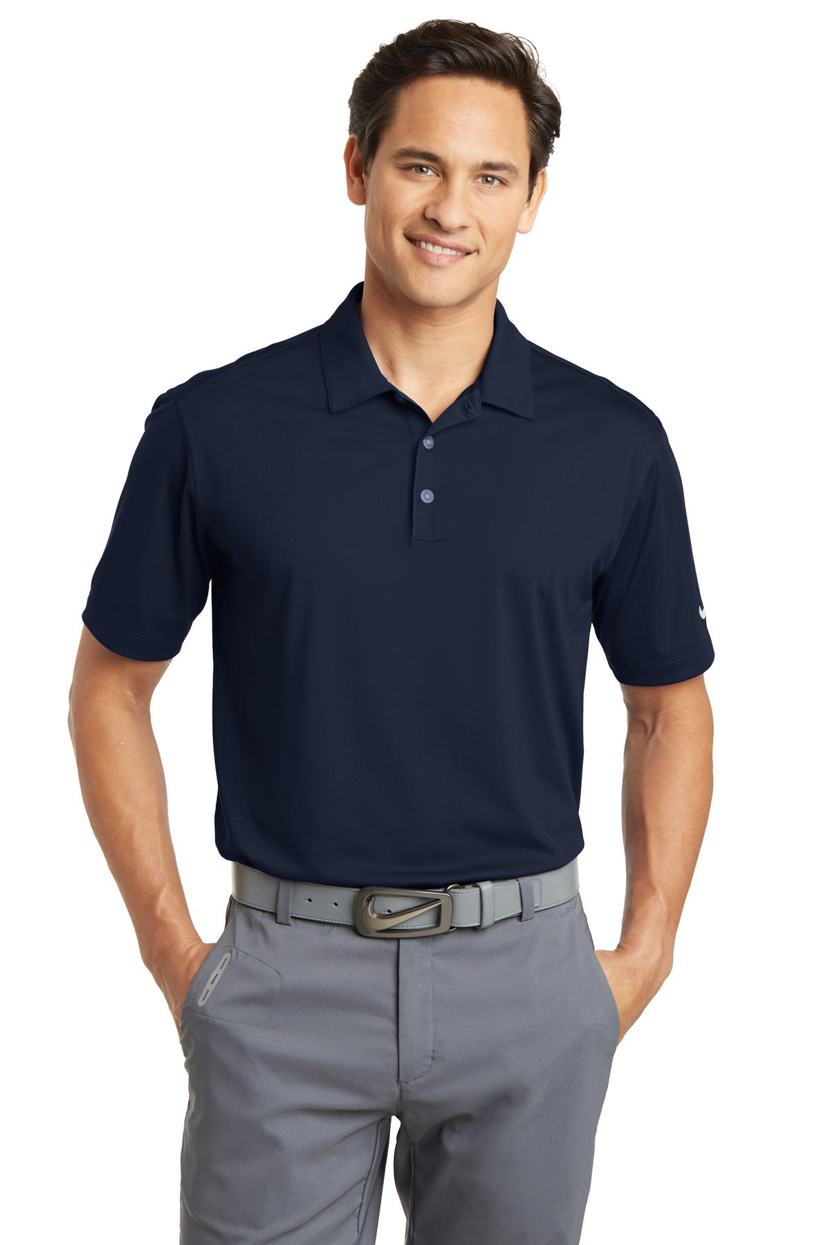 Nike Dri-FIT Vertical Mesh Polo. 637167 - Marine
