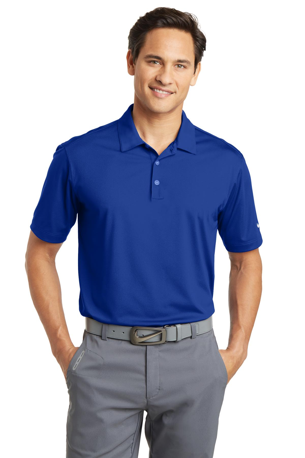 Nike Dri-FIT Vertical Mesh Polo. 637167 - Old Royal