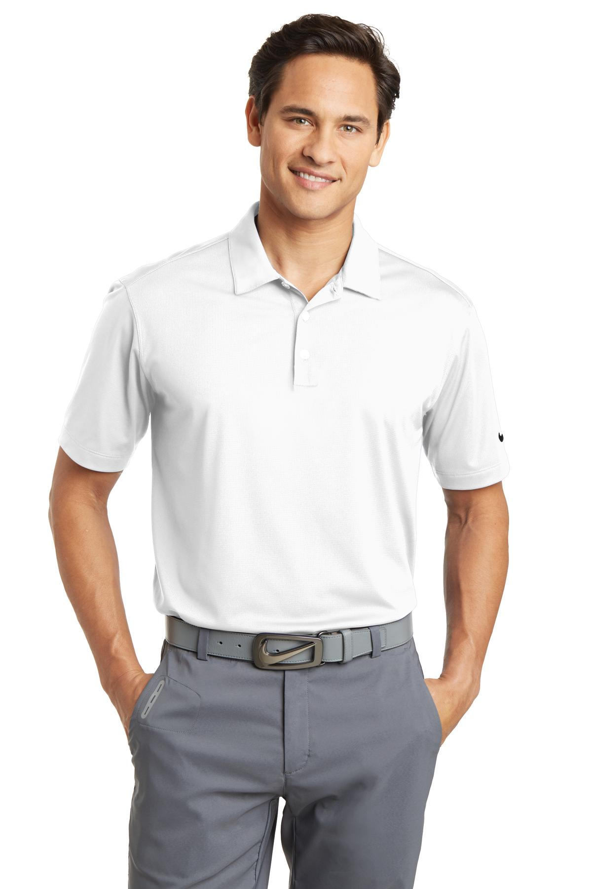 Nike Dri-FIT Vertical Mesh Polo. 637167 - White