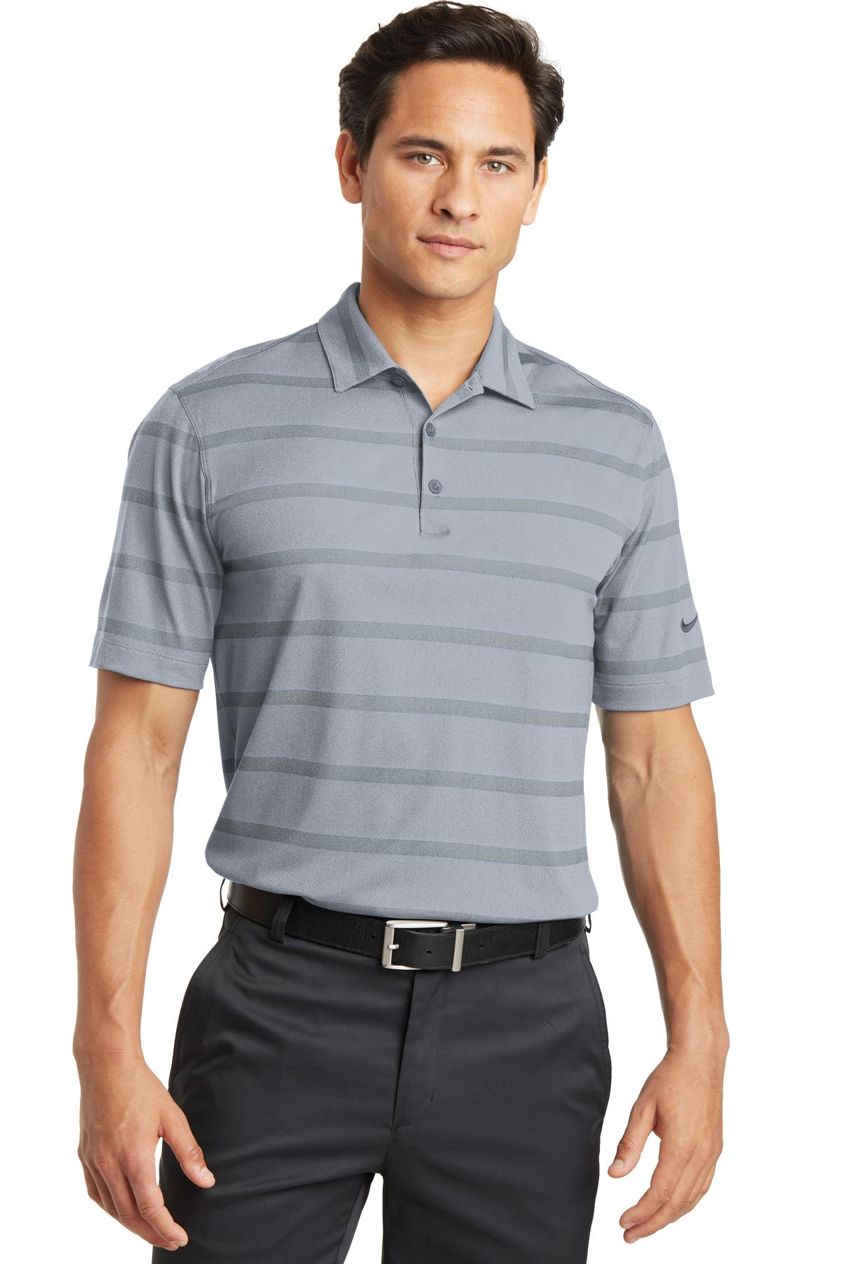 Nike Dri-FIT Fade Stripe Polo. 677786 - Dark Steel Grey/ Anthracite