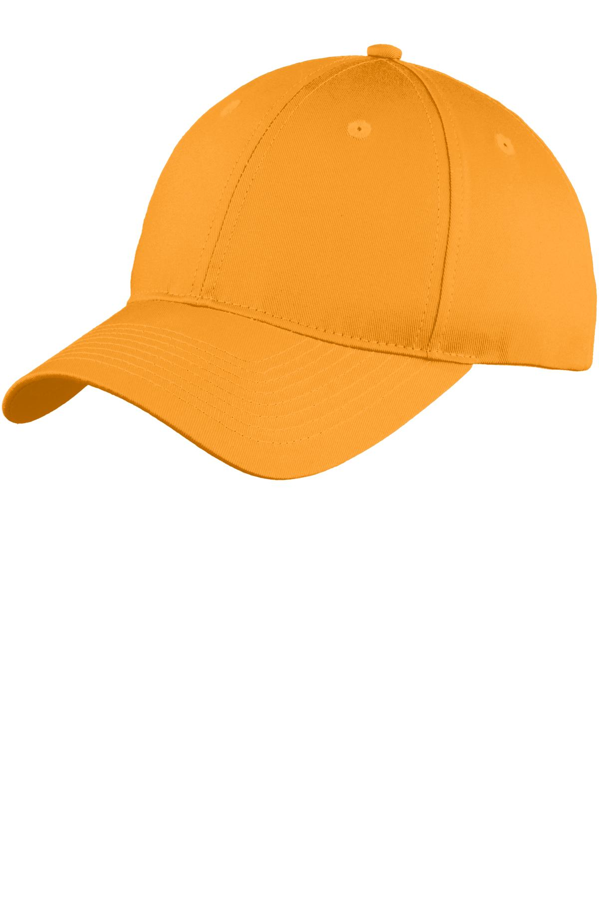 Port & Company ®  Six-Panel Unstructured Twill Cap. C914 - Athletic Gold